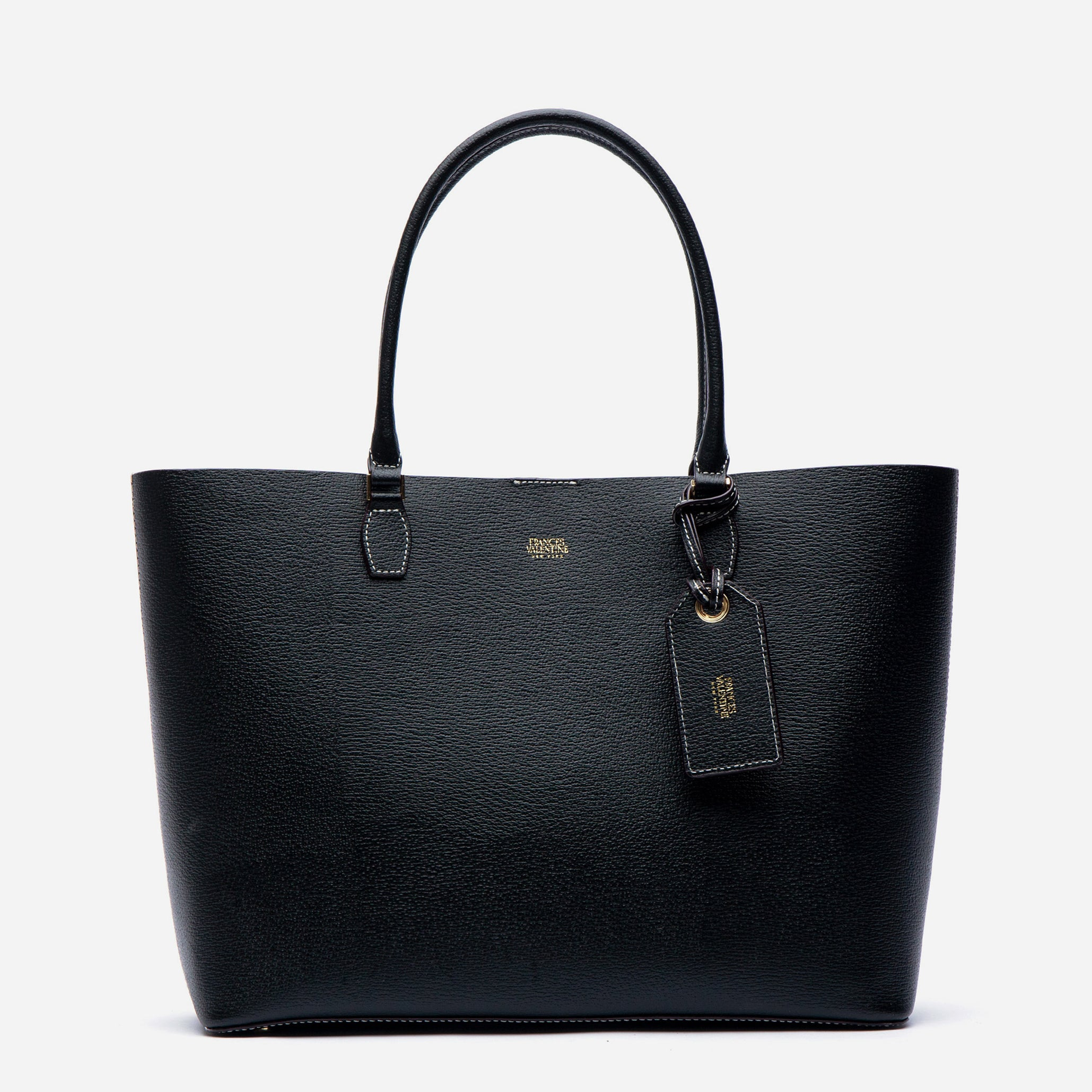 Trixie Tote Boarskin Black - Frances Valentine