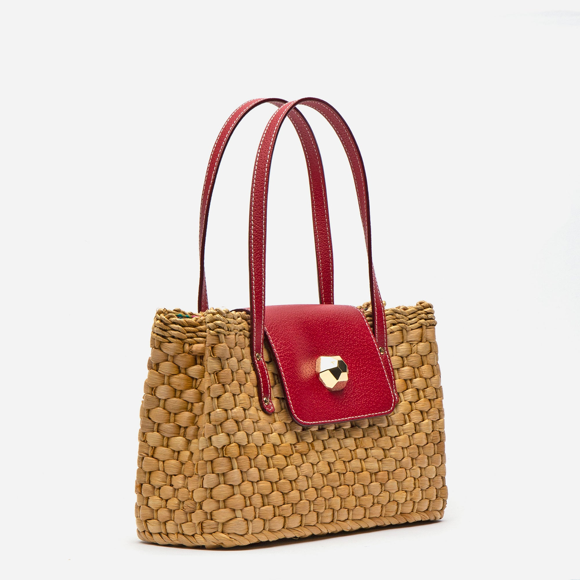 Gigi Basket Bag Red