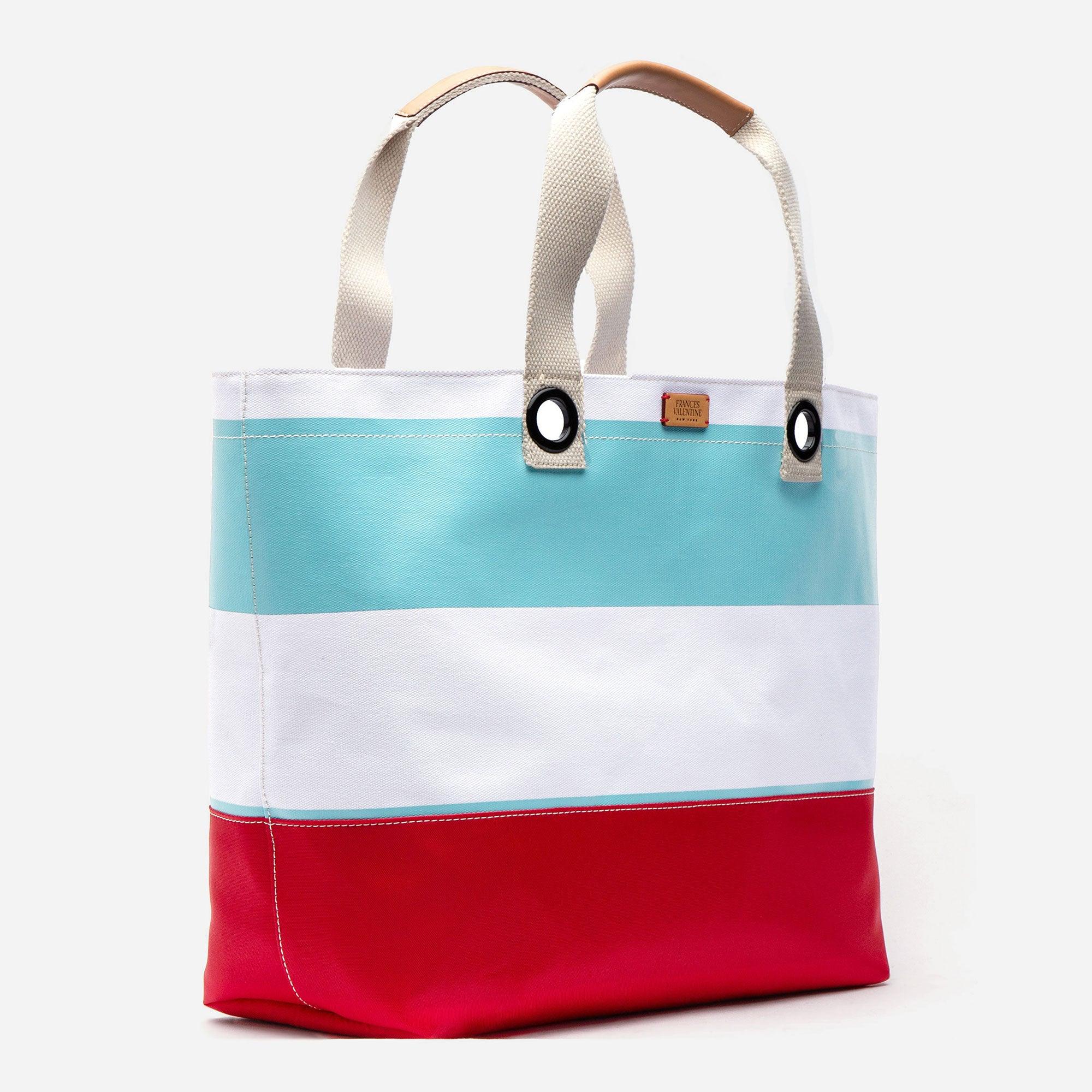 Gibson Beach Weekend Tote Light Blue Red
