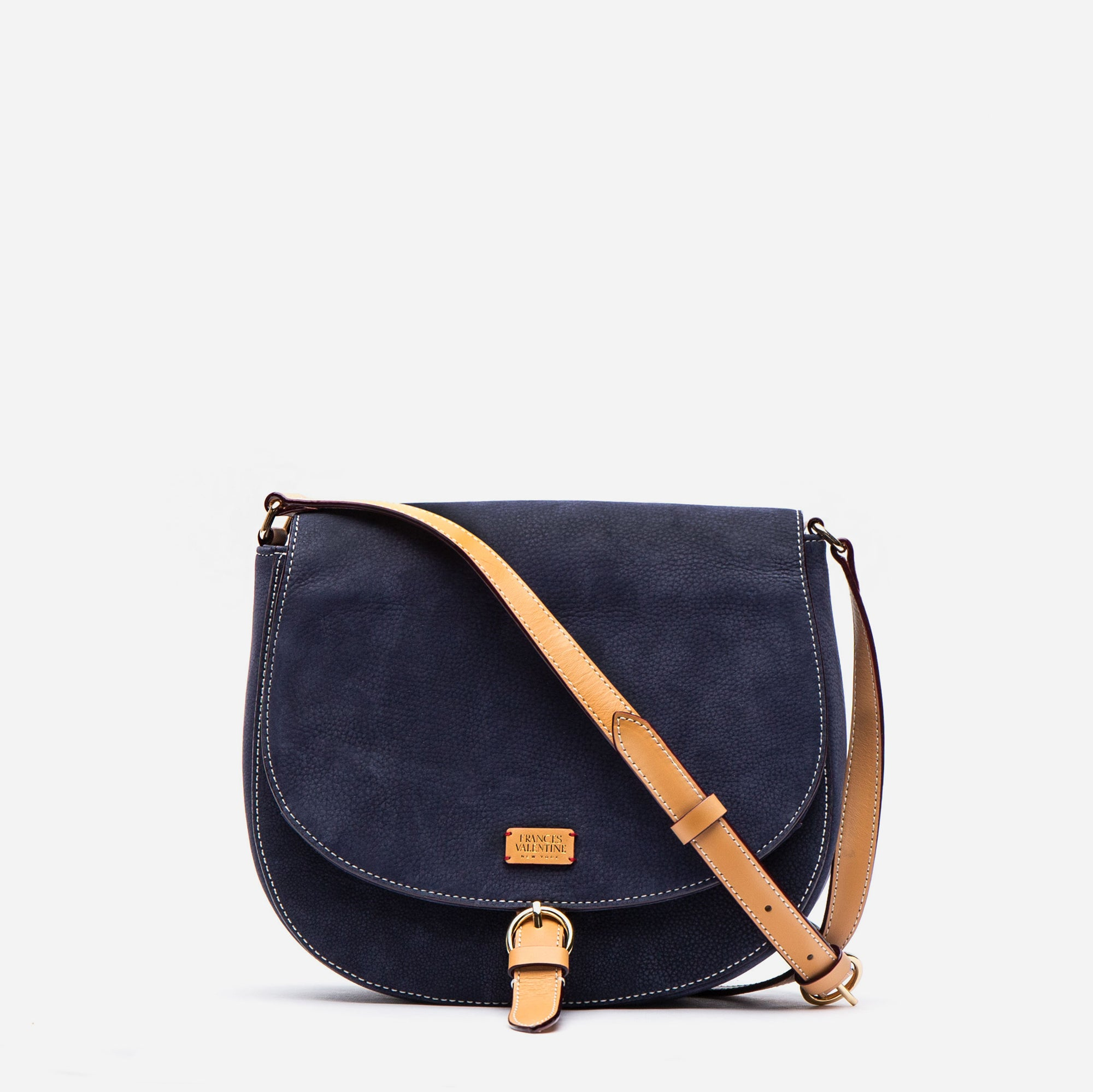 Ellen Satchel Tumbled Nubuck Navy