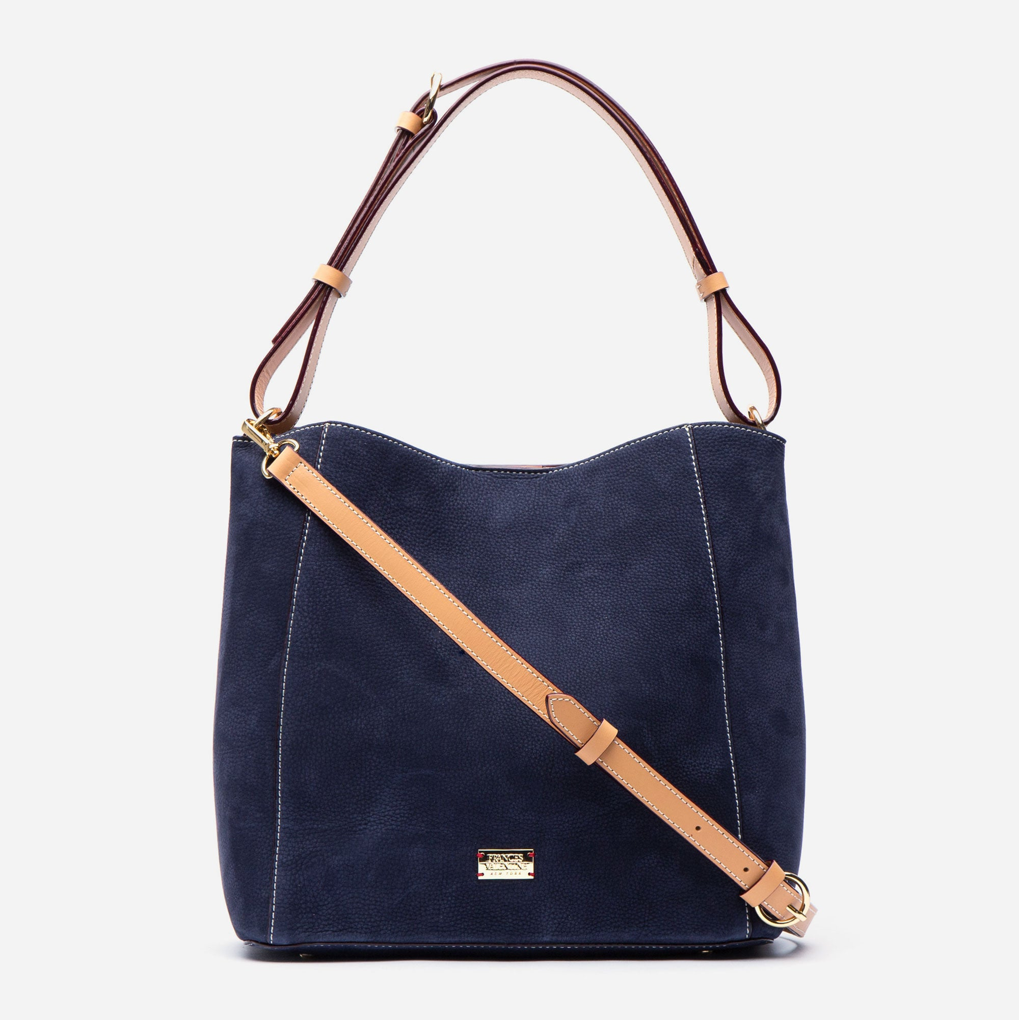 June Hobo Handbag Tumbled Nubuck Navy
