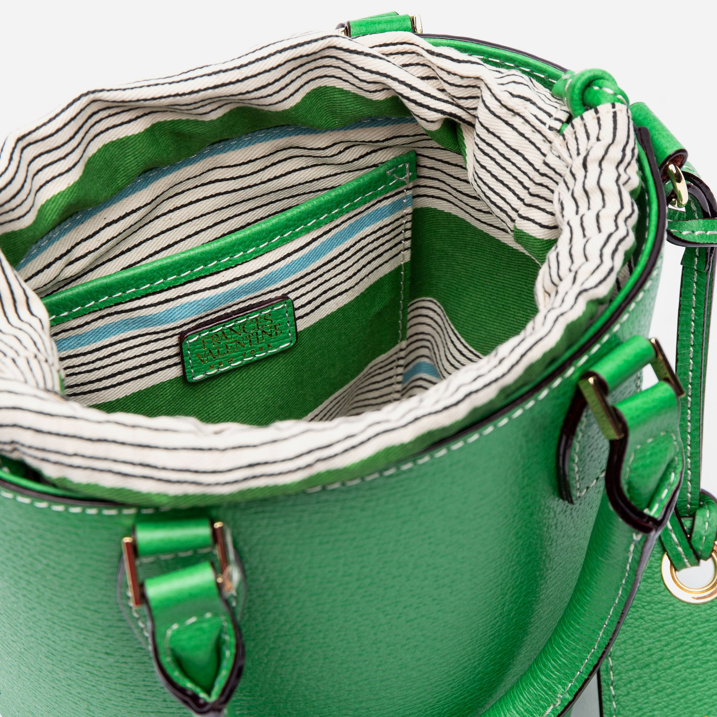 Small Bucket Bag Boarskin Green