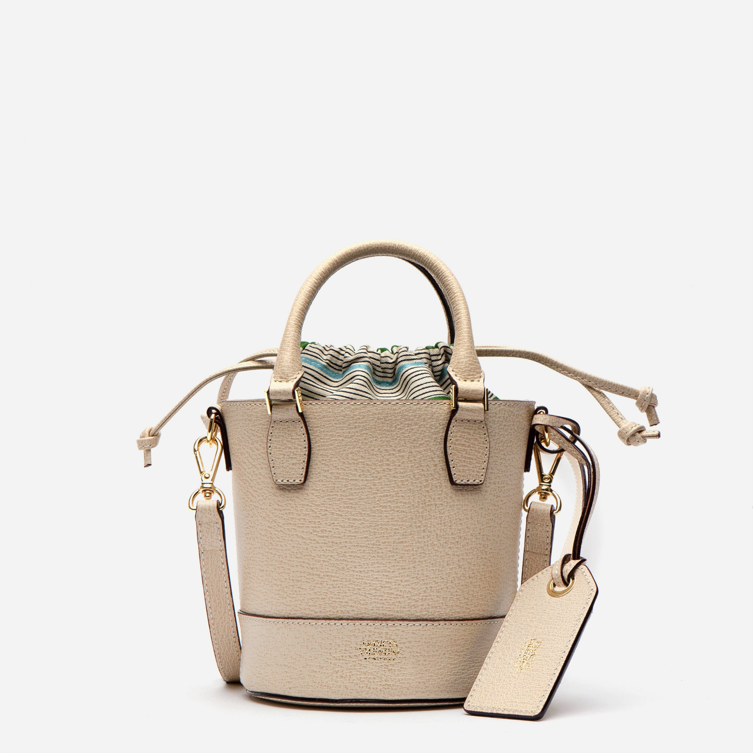 Small Bucket Bag Boarskin Oyster