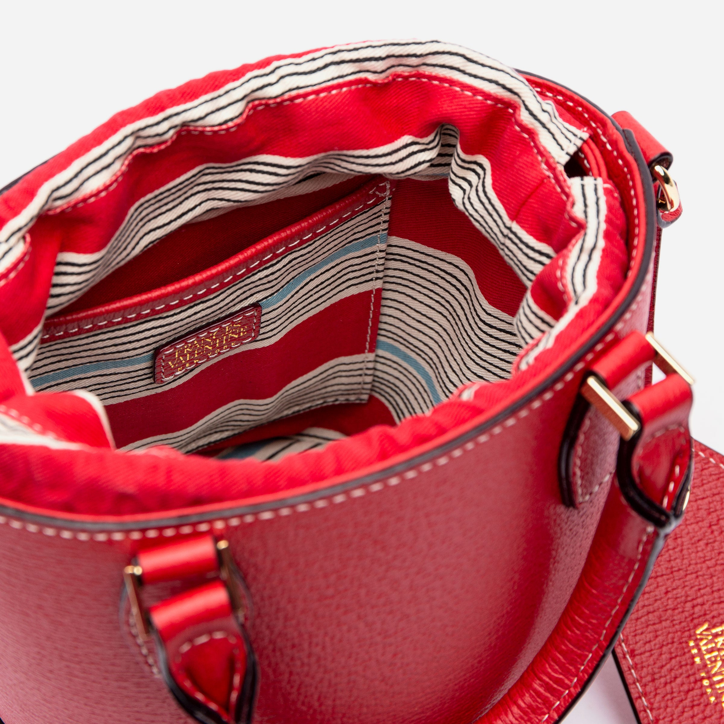 Small Bucket Bag Boarskin Red