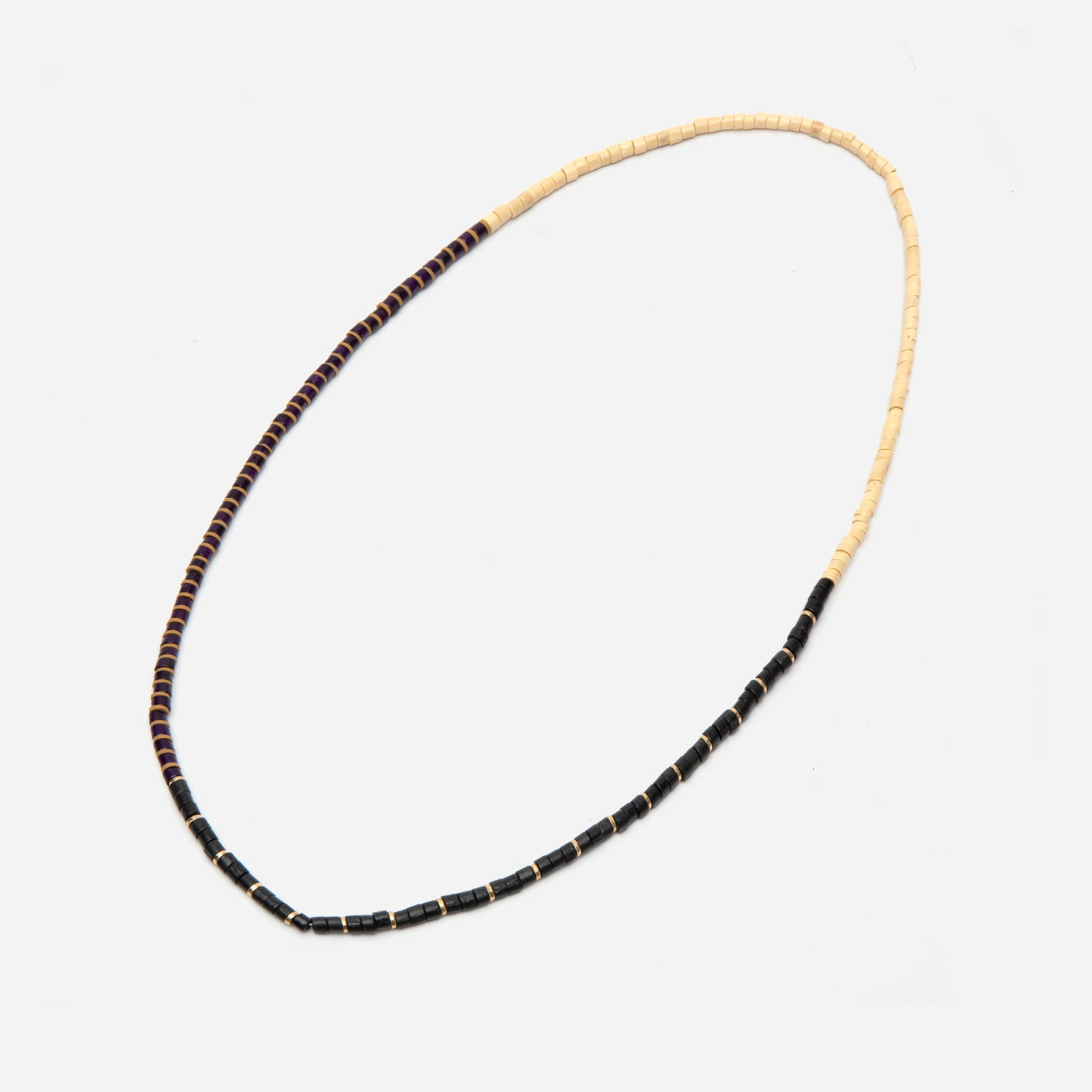 Picnic Bead Necklace Black Oyster