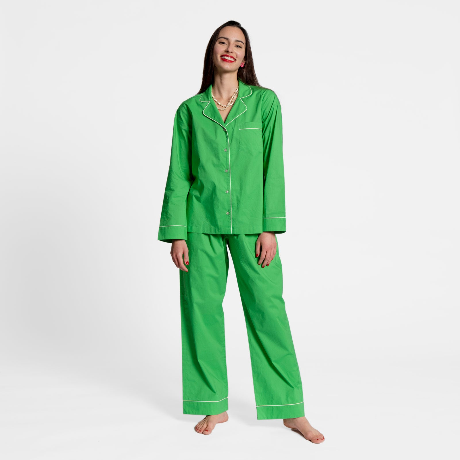 Teddy Pajama Pant Green