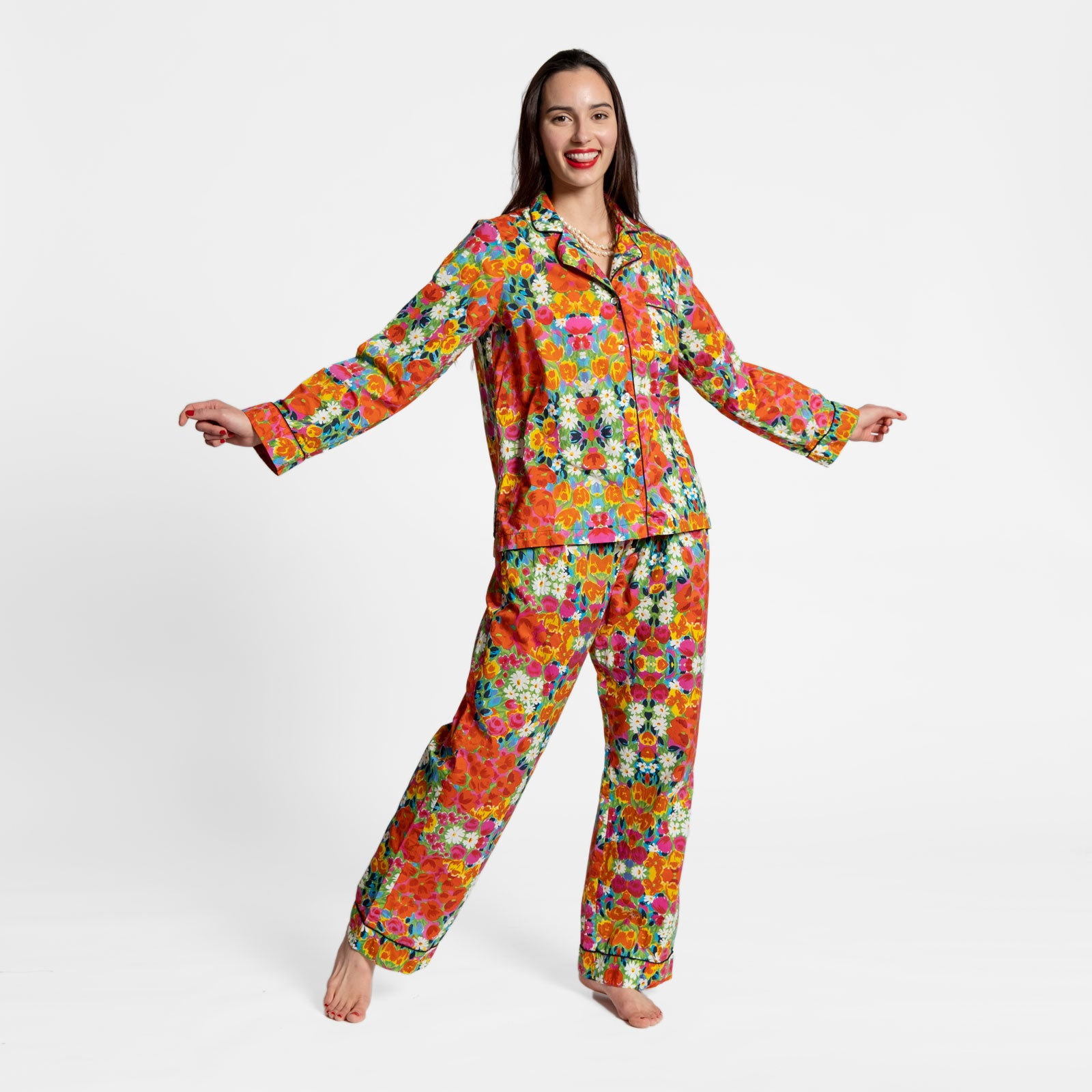 Teddy Pajama Pant Bright Floral - Frances Valentine
