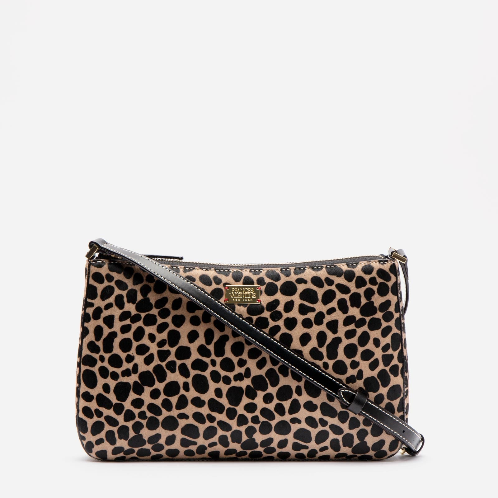 Poppy Crossbody Printed Haircalf Cheetah - Frances Valentine