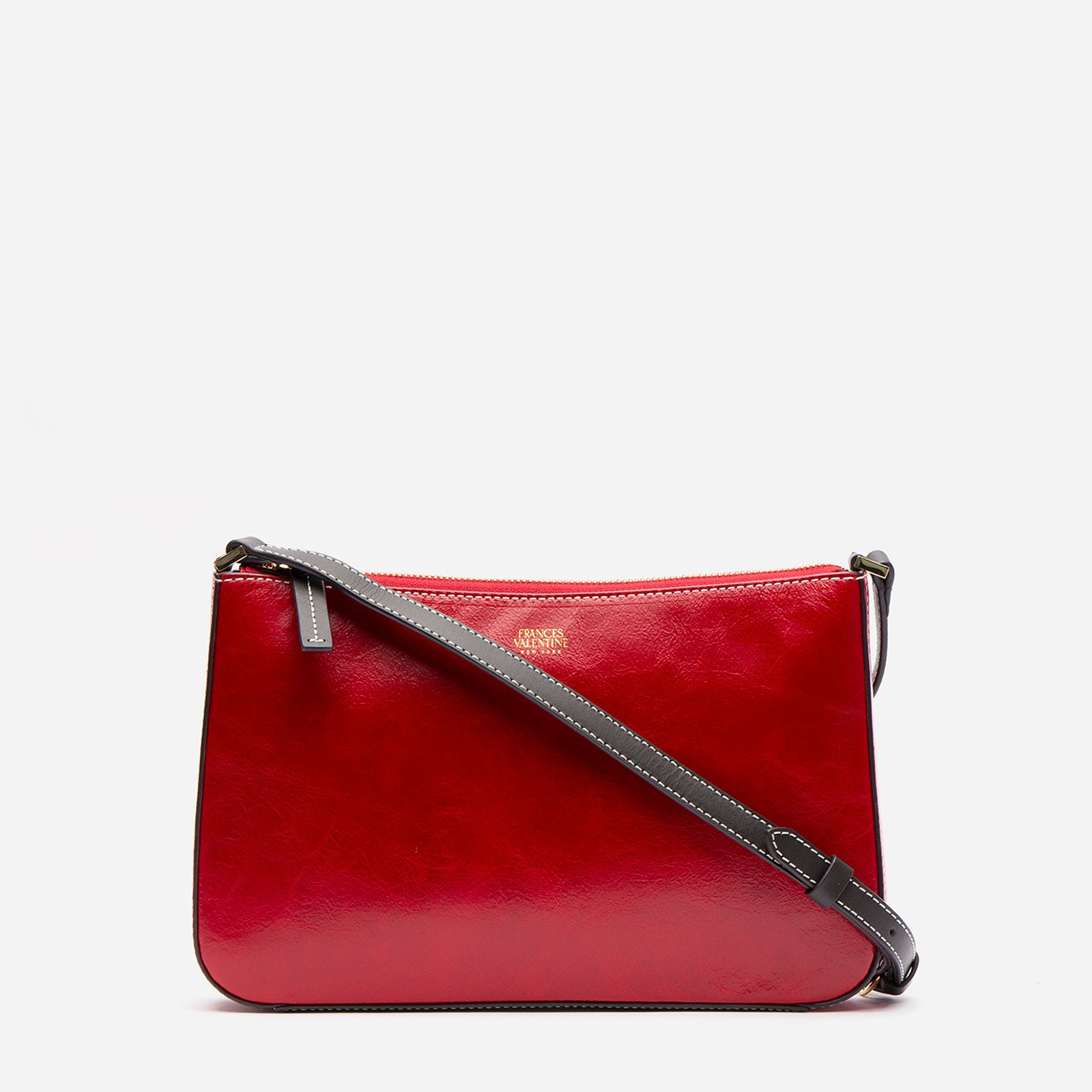 Poppy Crossbody Naplak Leather Red Pink - Frances Valentine