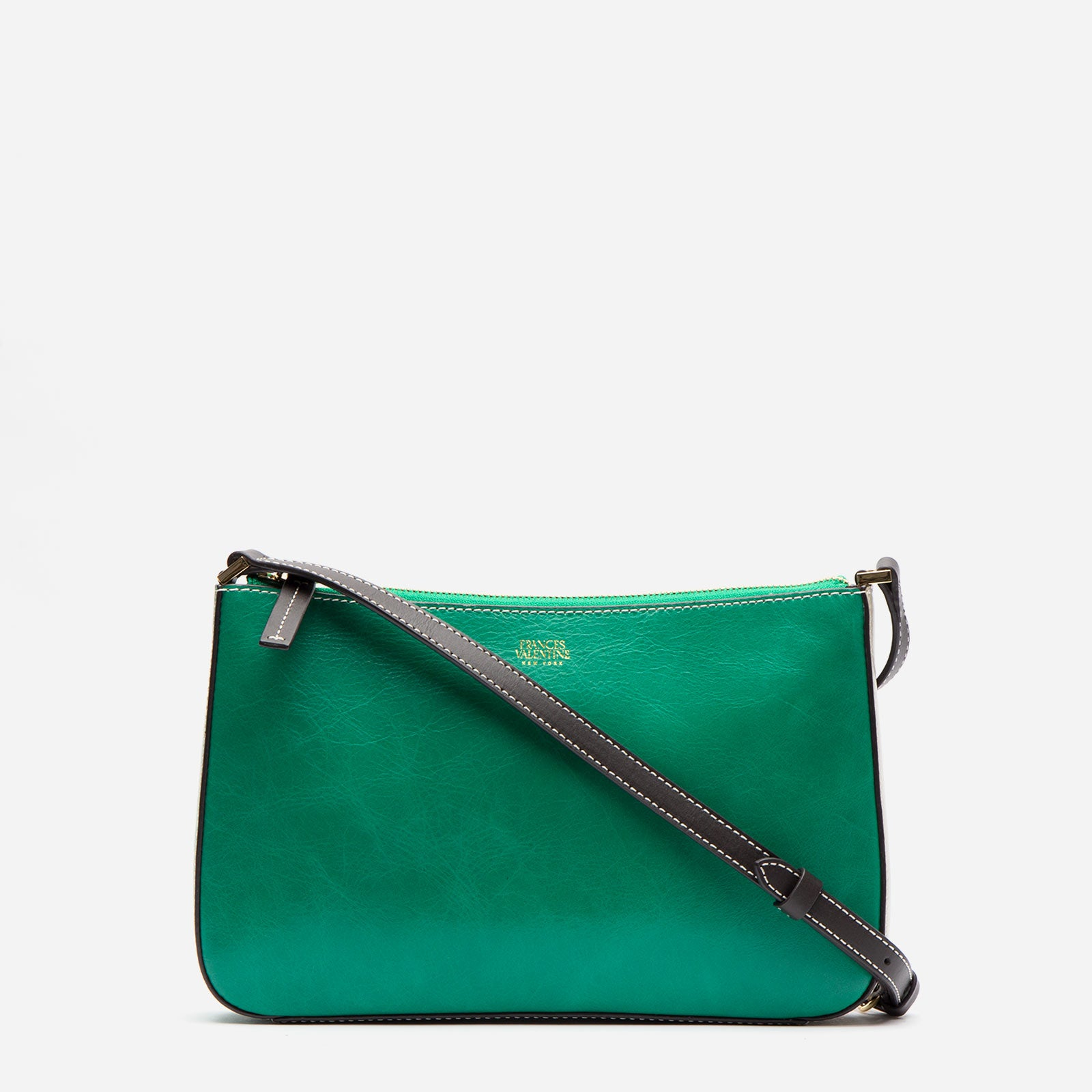 Poppy Crossbody Naplak Leather Green Oyster - Frances Valentine