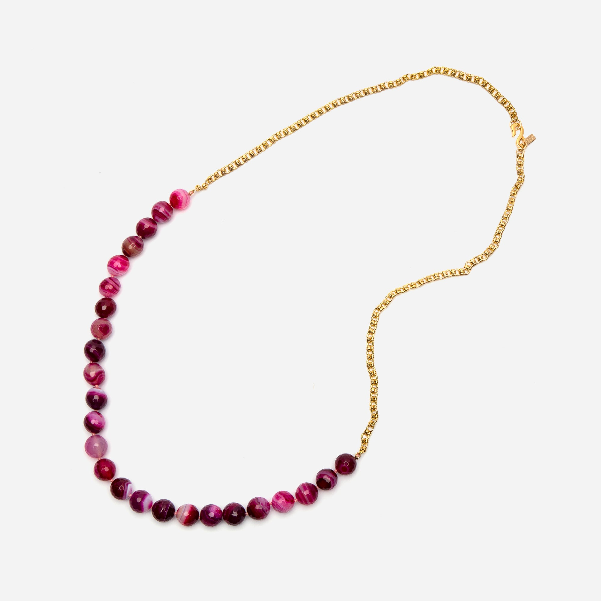 Cherry Agate Bead Necklace
