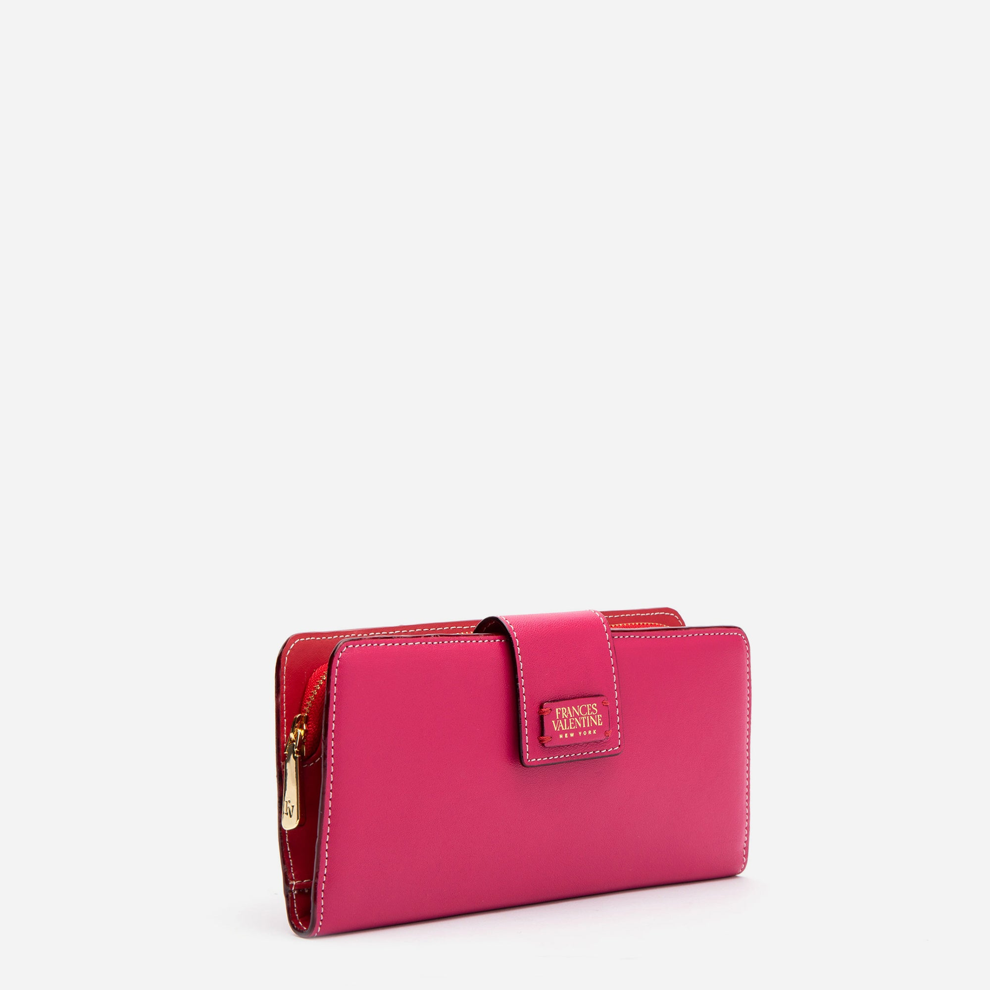 Jefferson Slim Wallet Pink Red