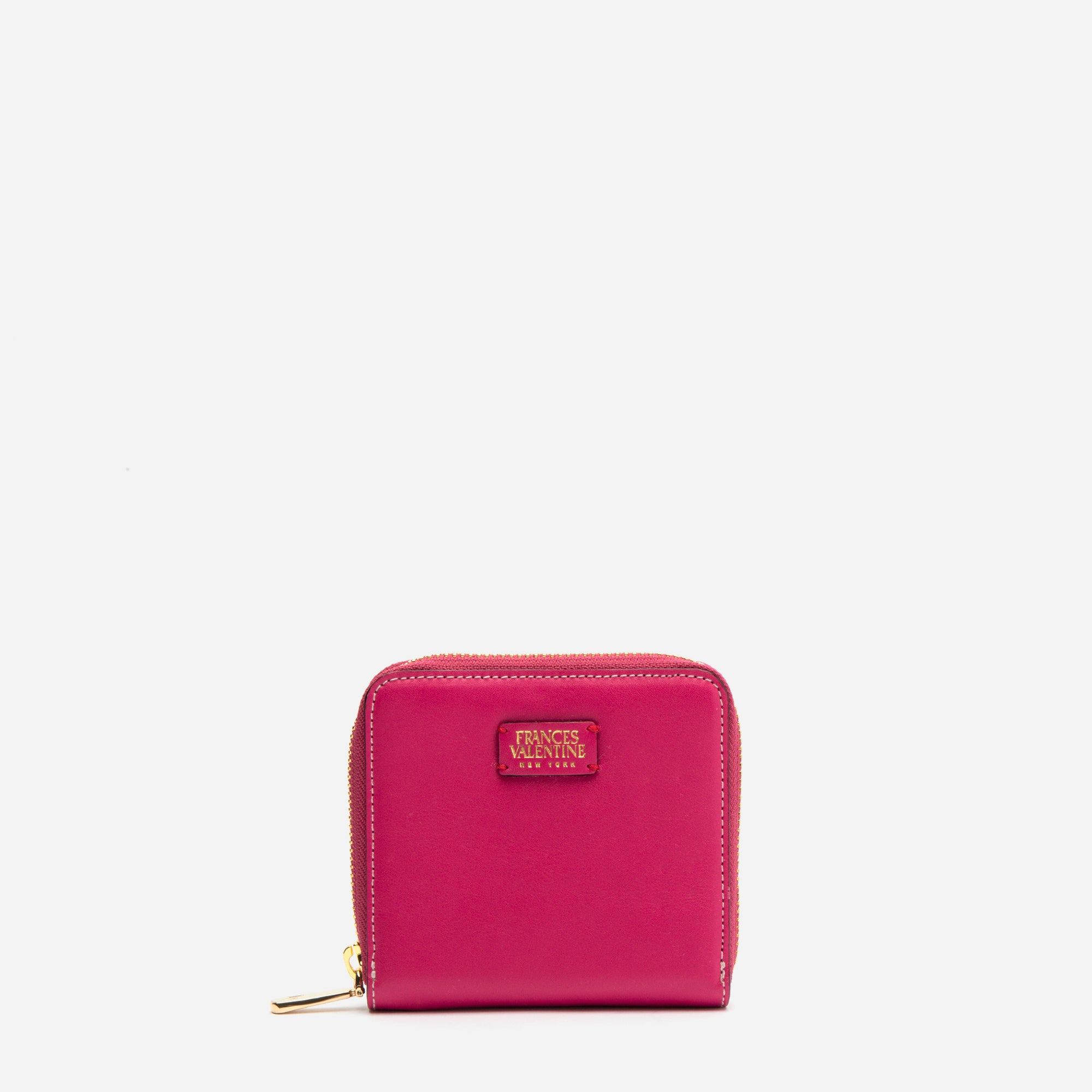 Roosevelt Small Zip Wallet Pink Red - Frances Valentine