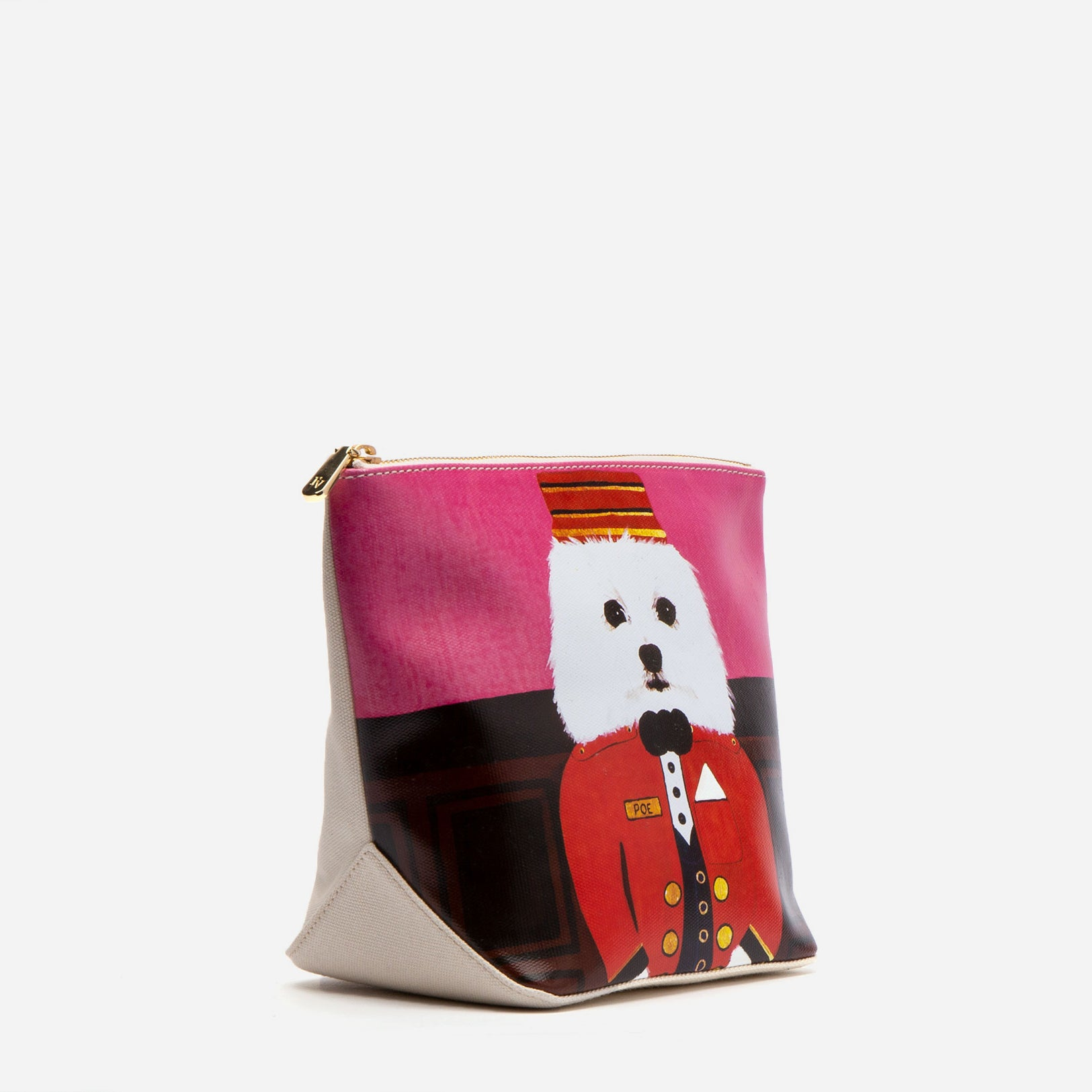 Tall Canvas Poe Cosmetic Bag