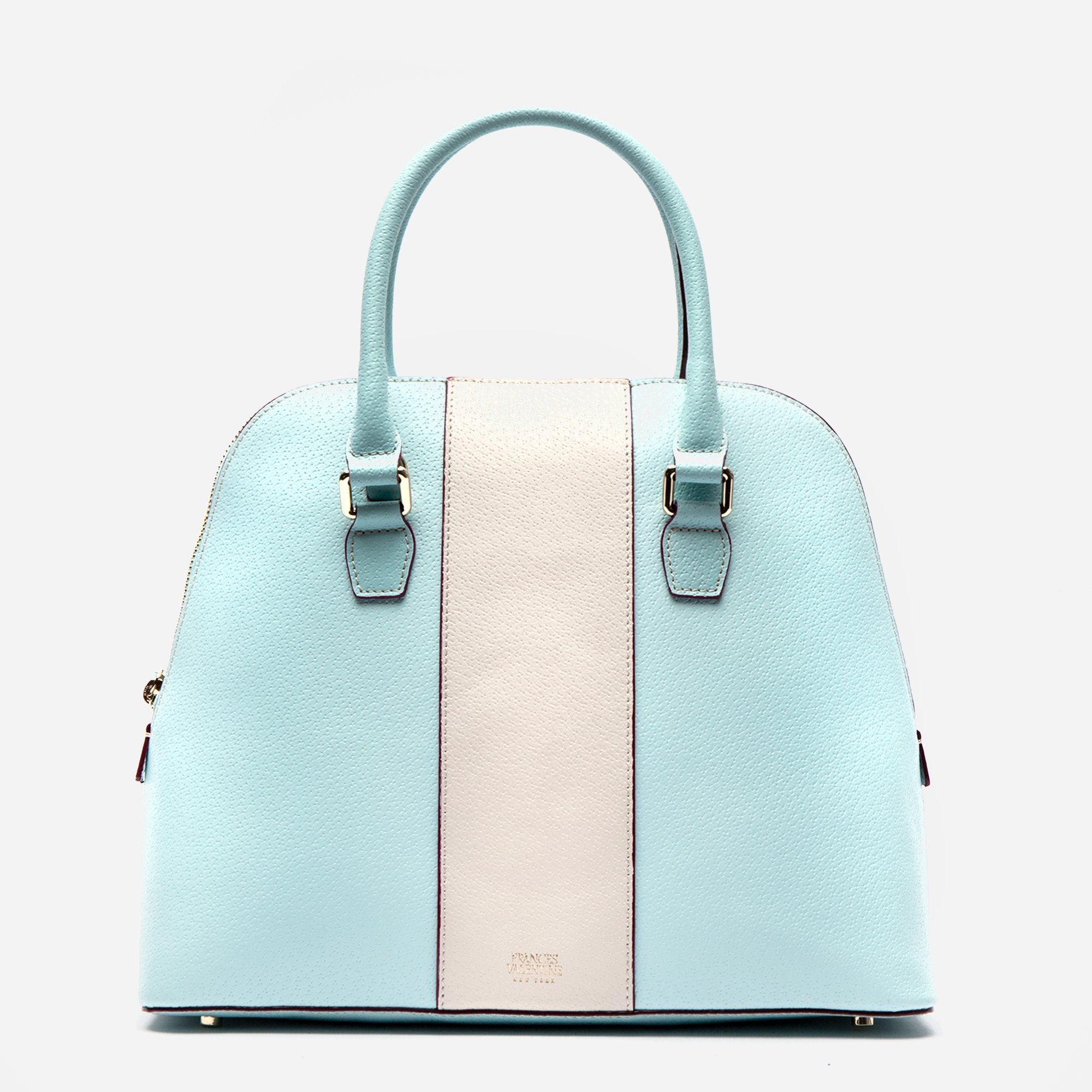 Rachel Satchel Racing Stripe Light Blue