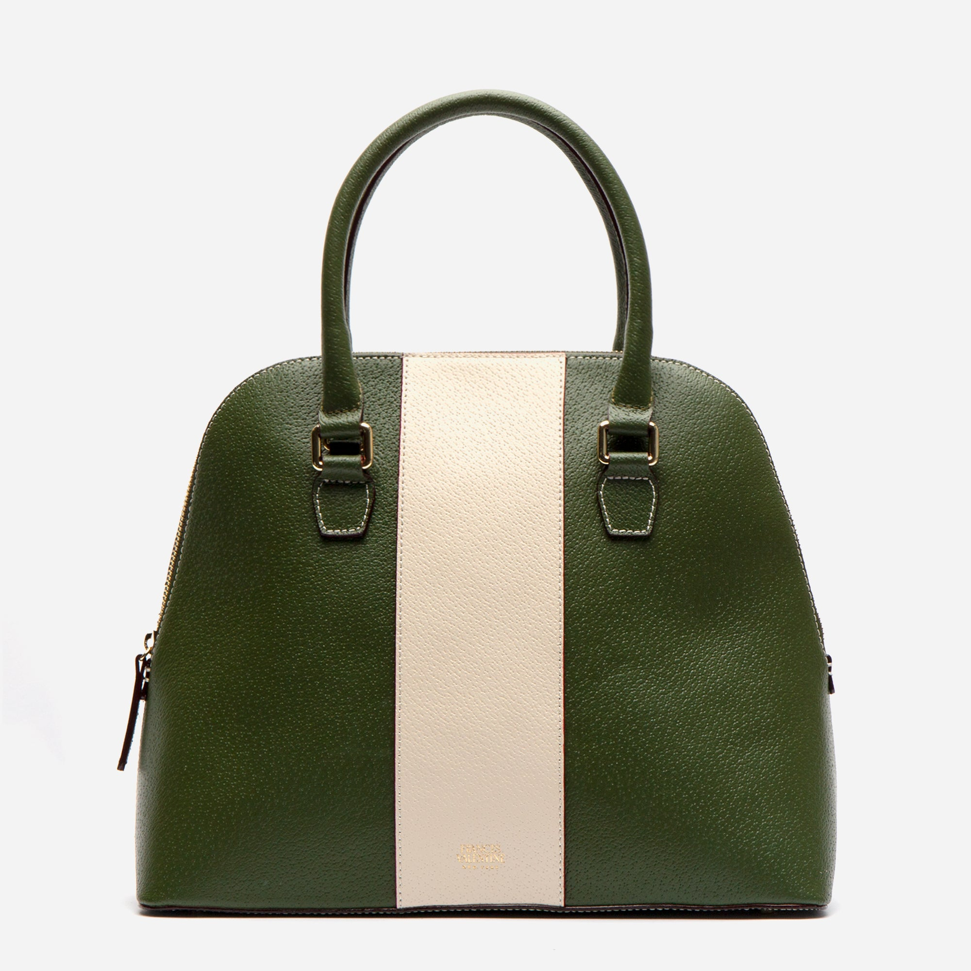 Rachel Satchel Racing Stripe Olive - Frances Valentine