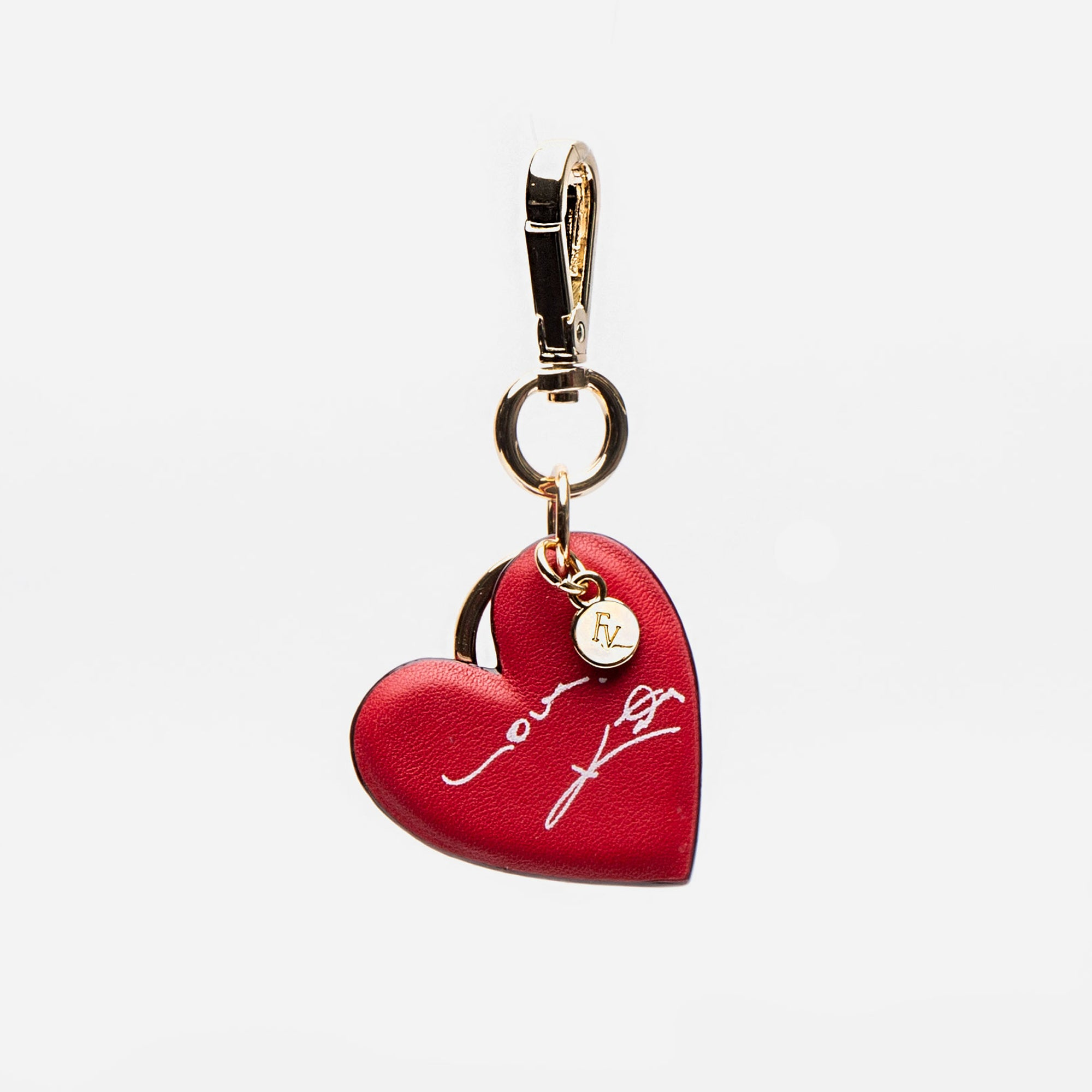 Katy Heart Keychain Red