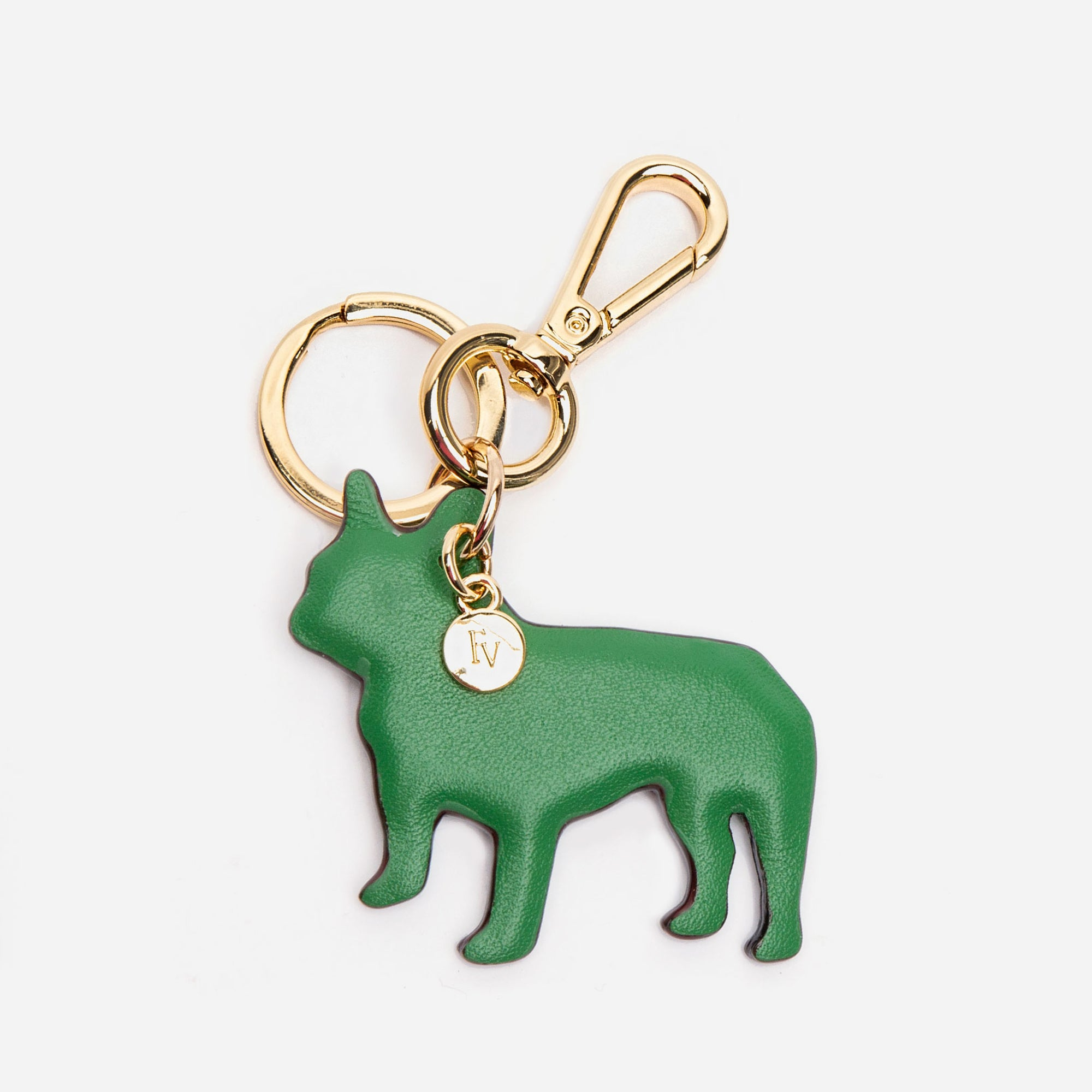 French Bulldog Keychain Green