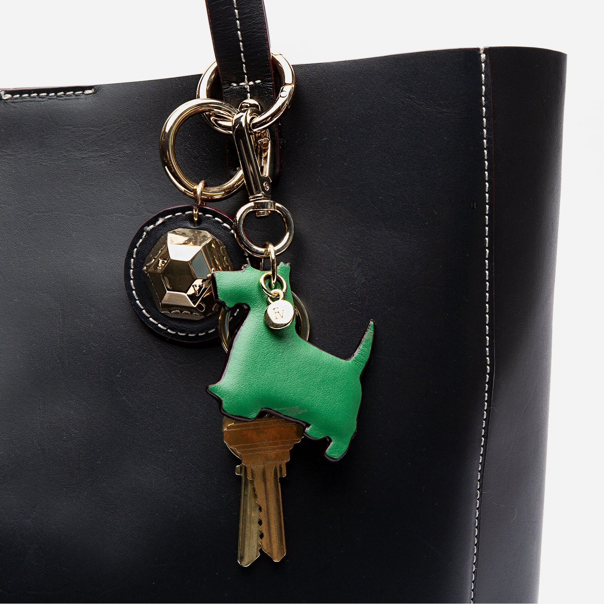 Scottish Terrier Keychain Oyster