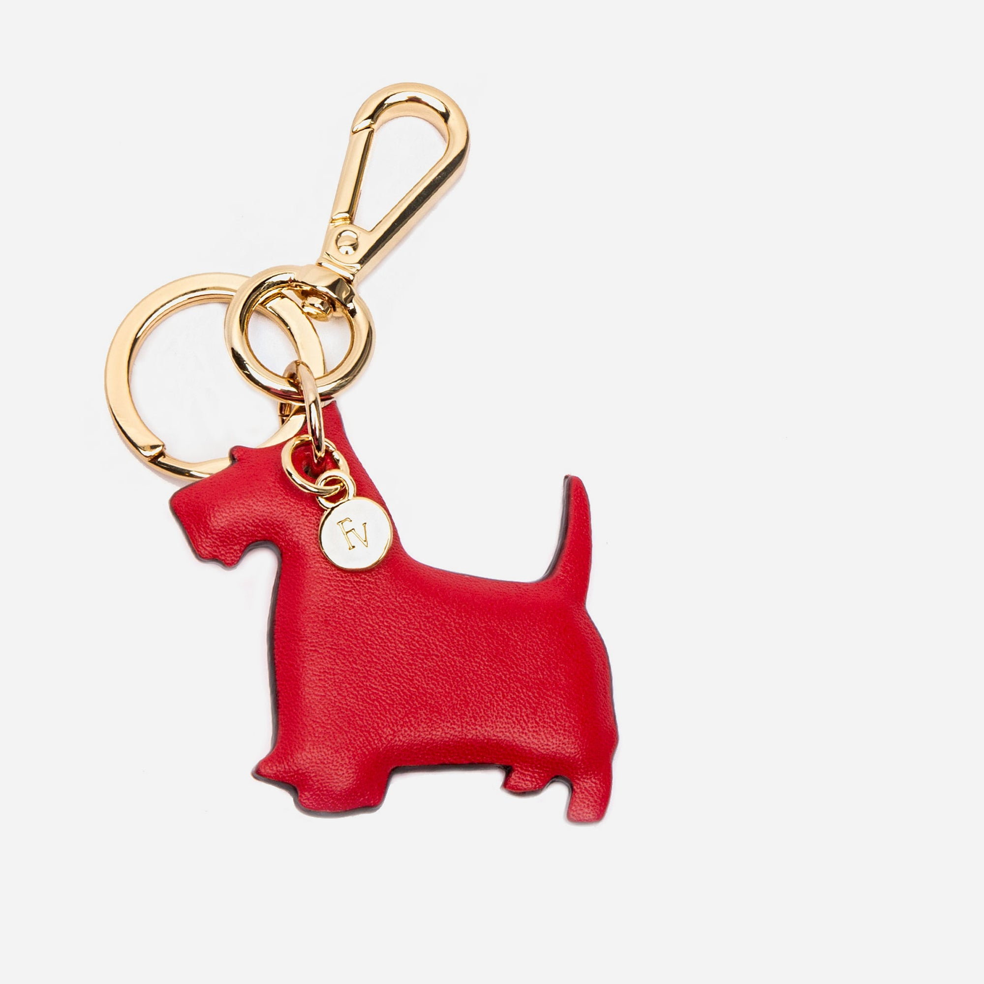 Scottish Terrier Keychain Red