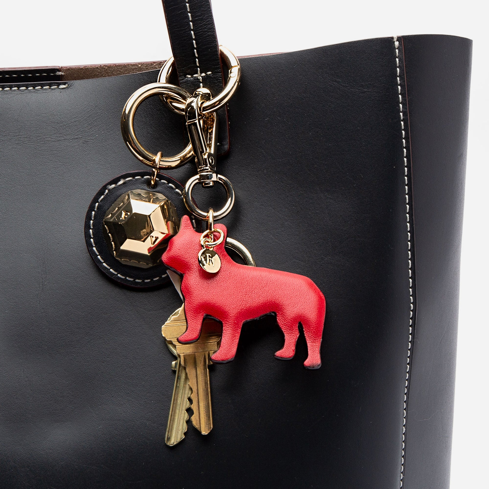 French Bulldog Keychain Oyster