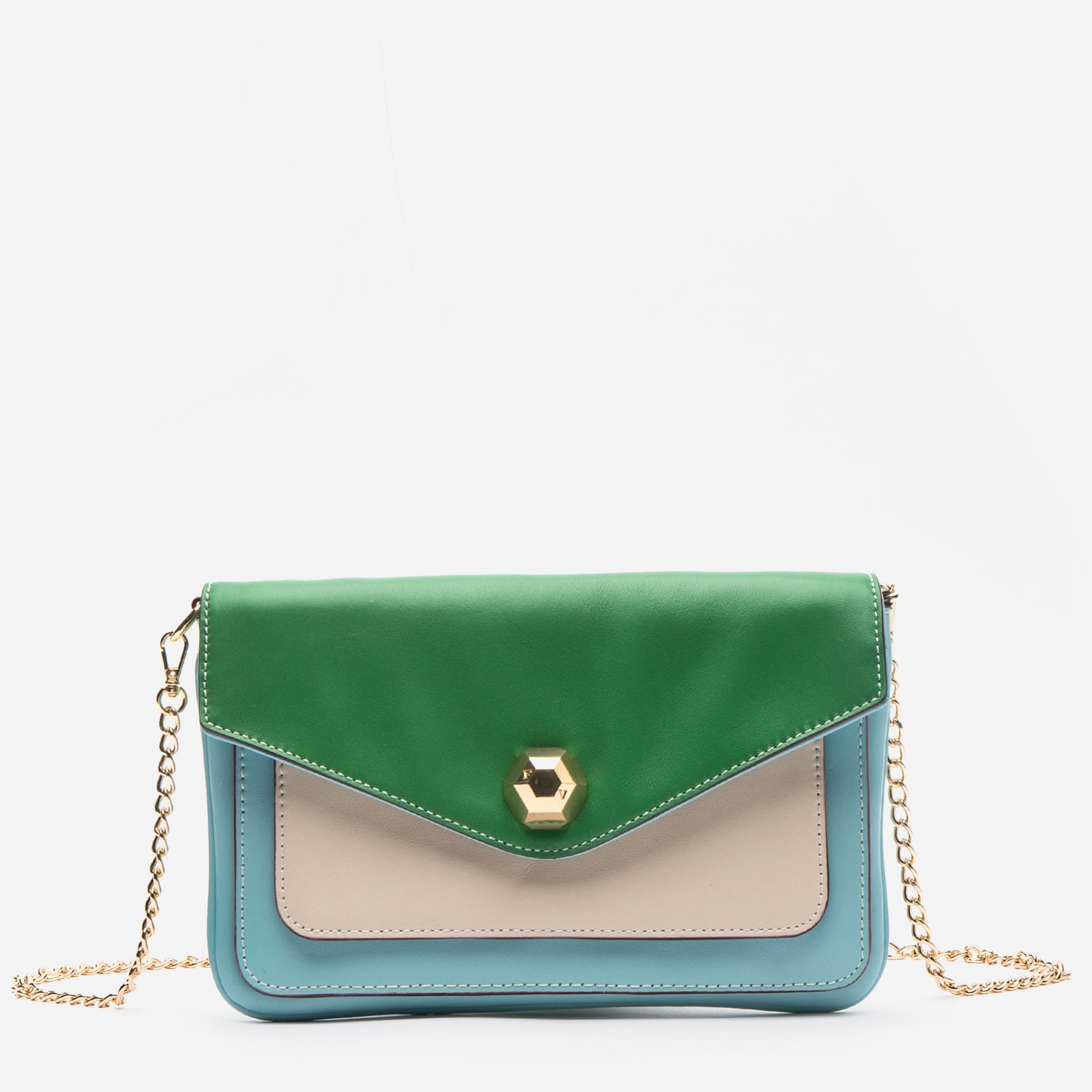 Tess Envelope Clutch Light Blue Multi