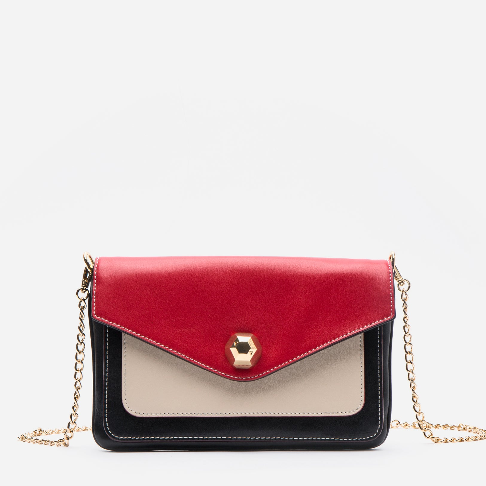 Tess Envelope Clutch Black Multi