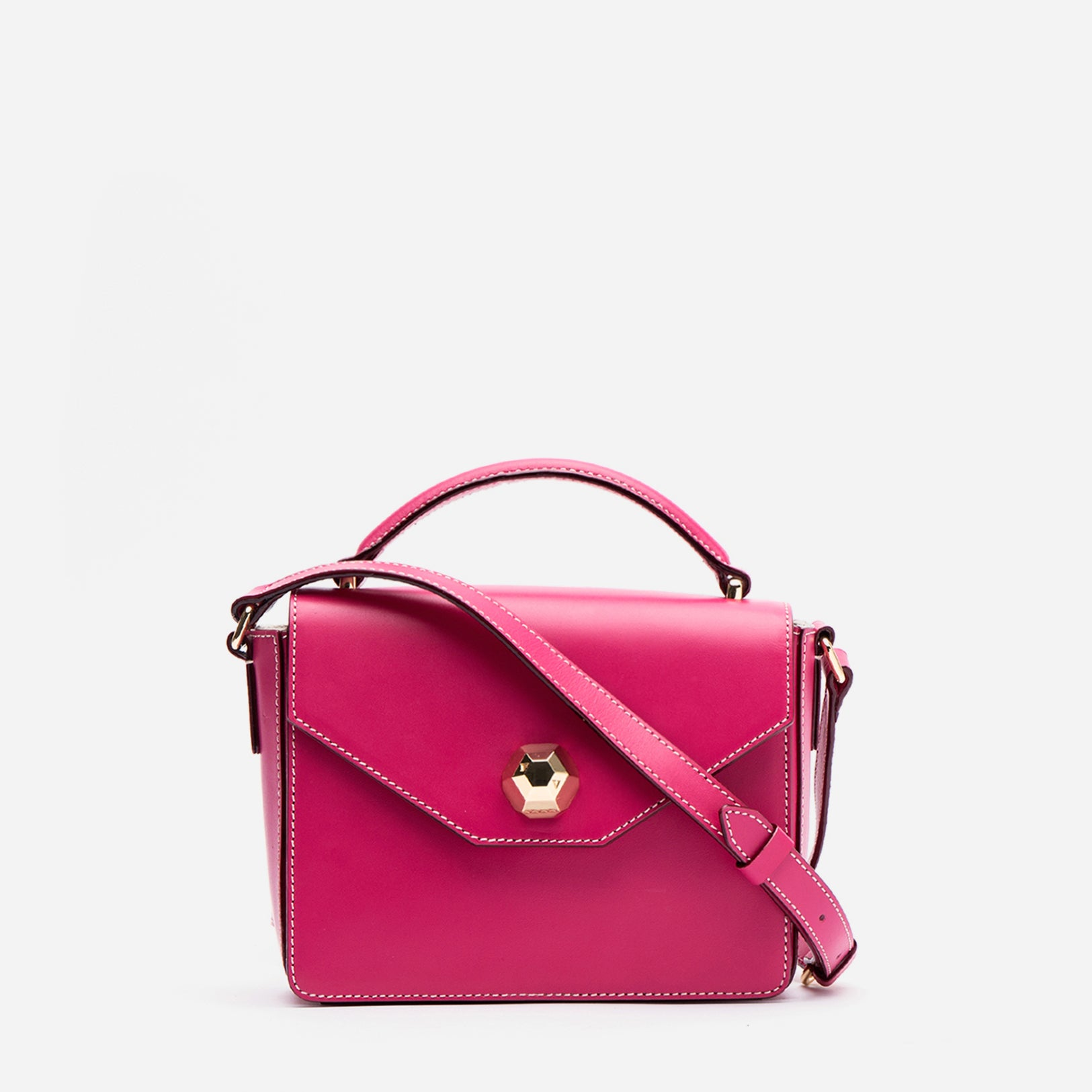 Mini Midge Vachetta Leather Bright Pink