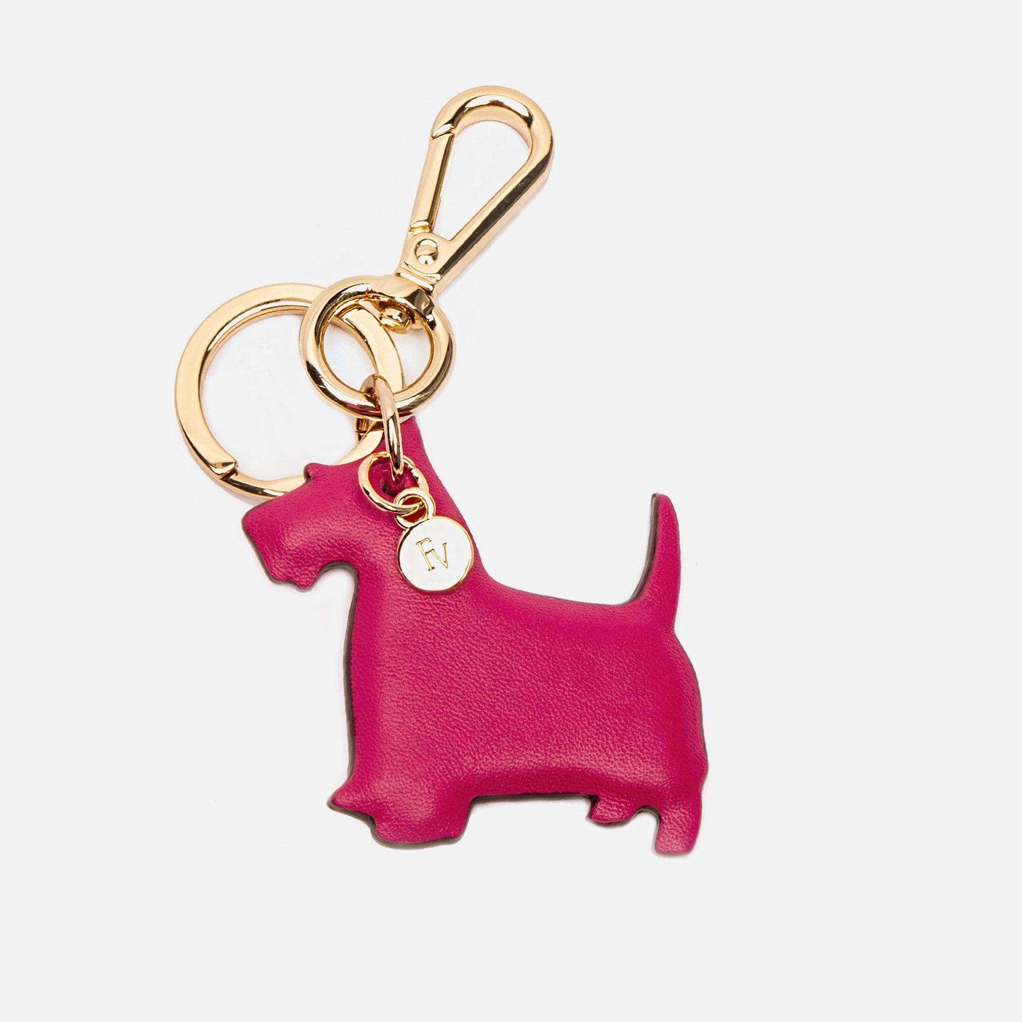 Scottish Terrier Keychain Pink