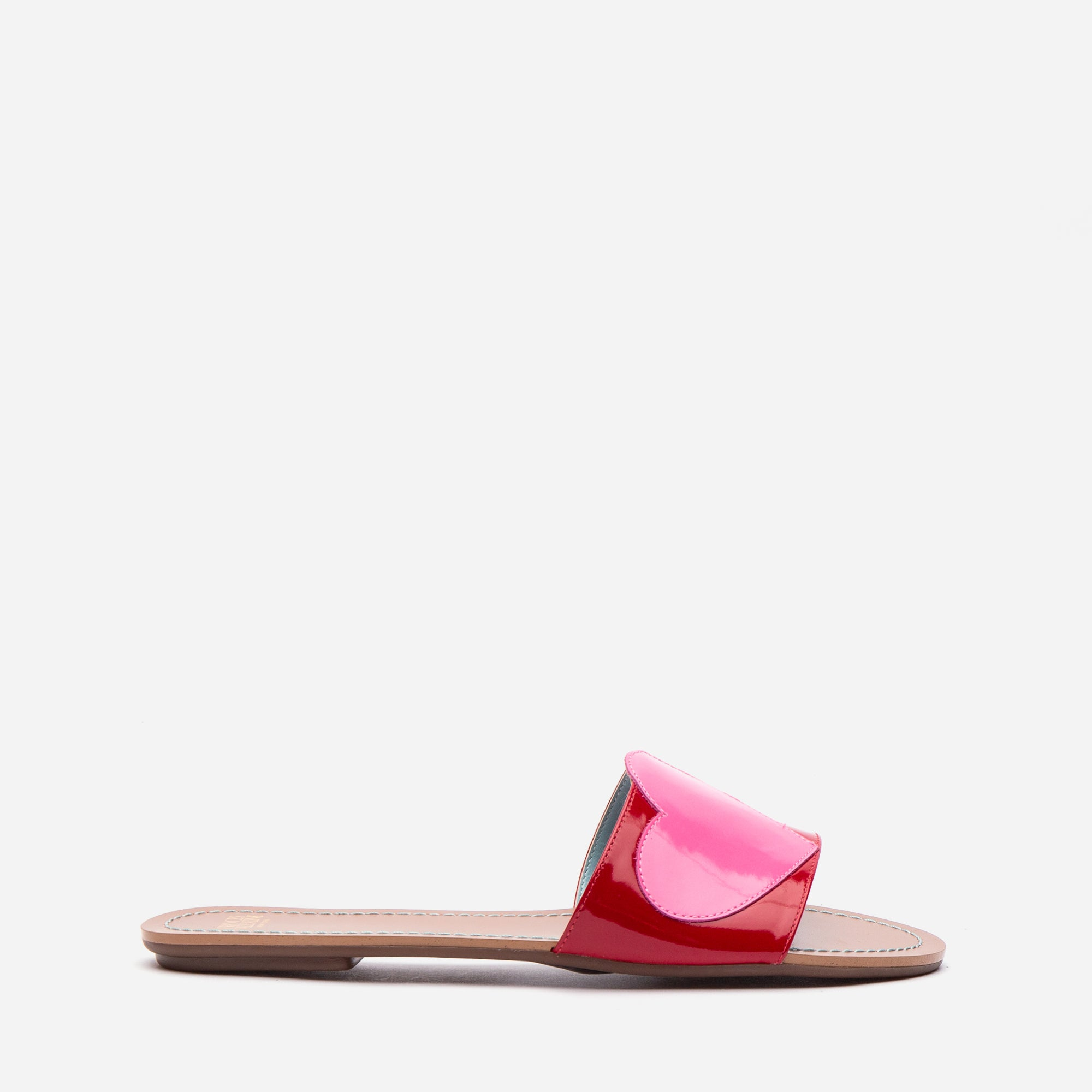 Heart Sandals Red Patent