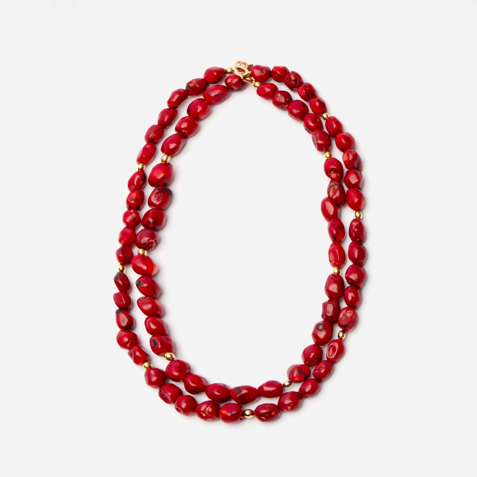 Red Pebble Necklace - Frances Valentine