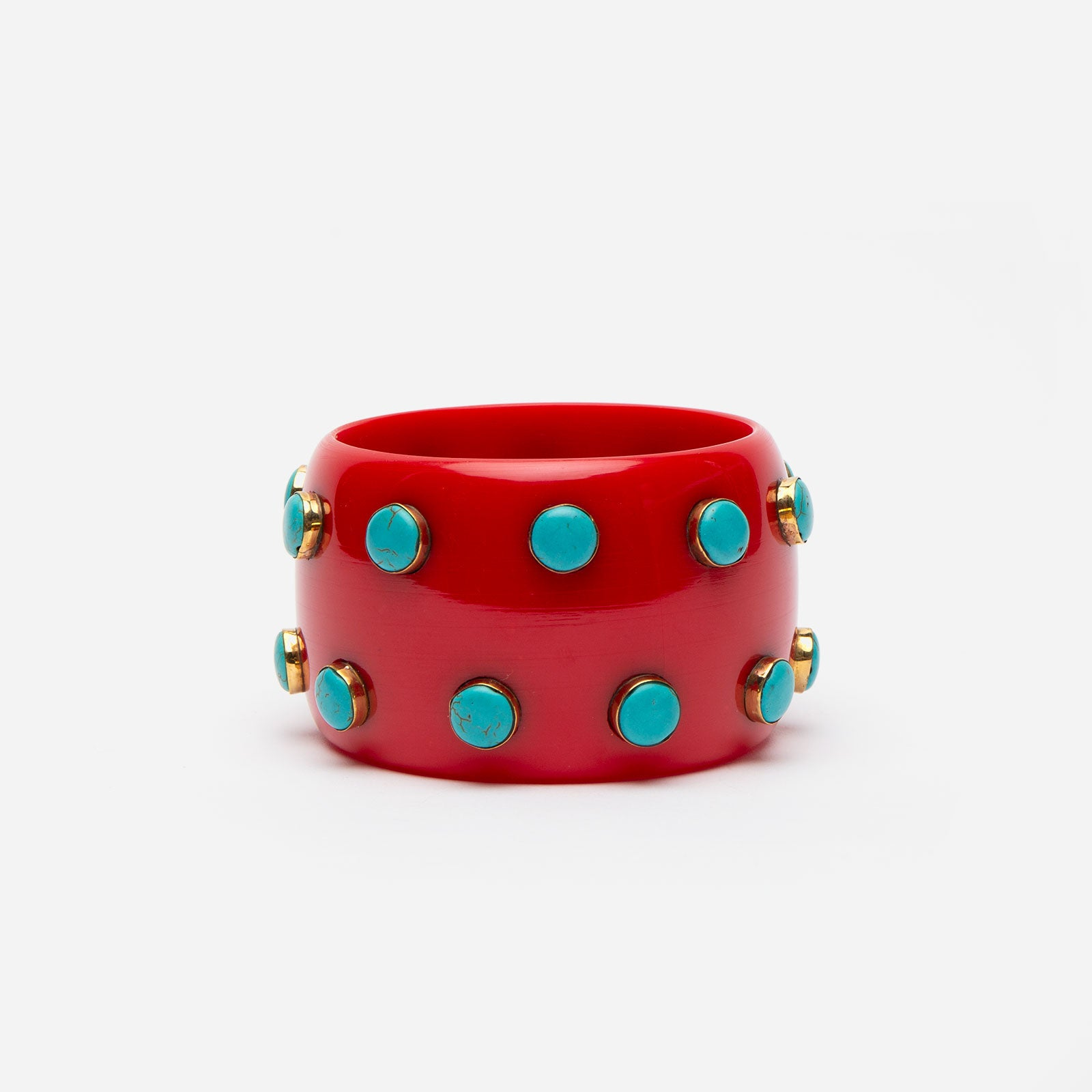 Kollam Bangle Bracelet Red - Frances Valentine