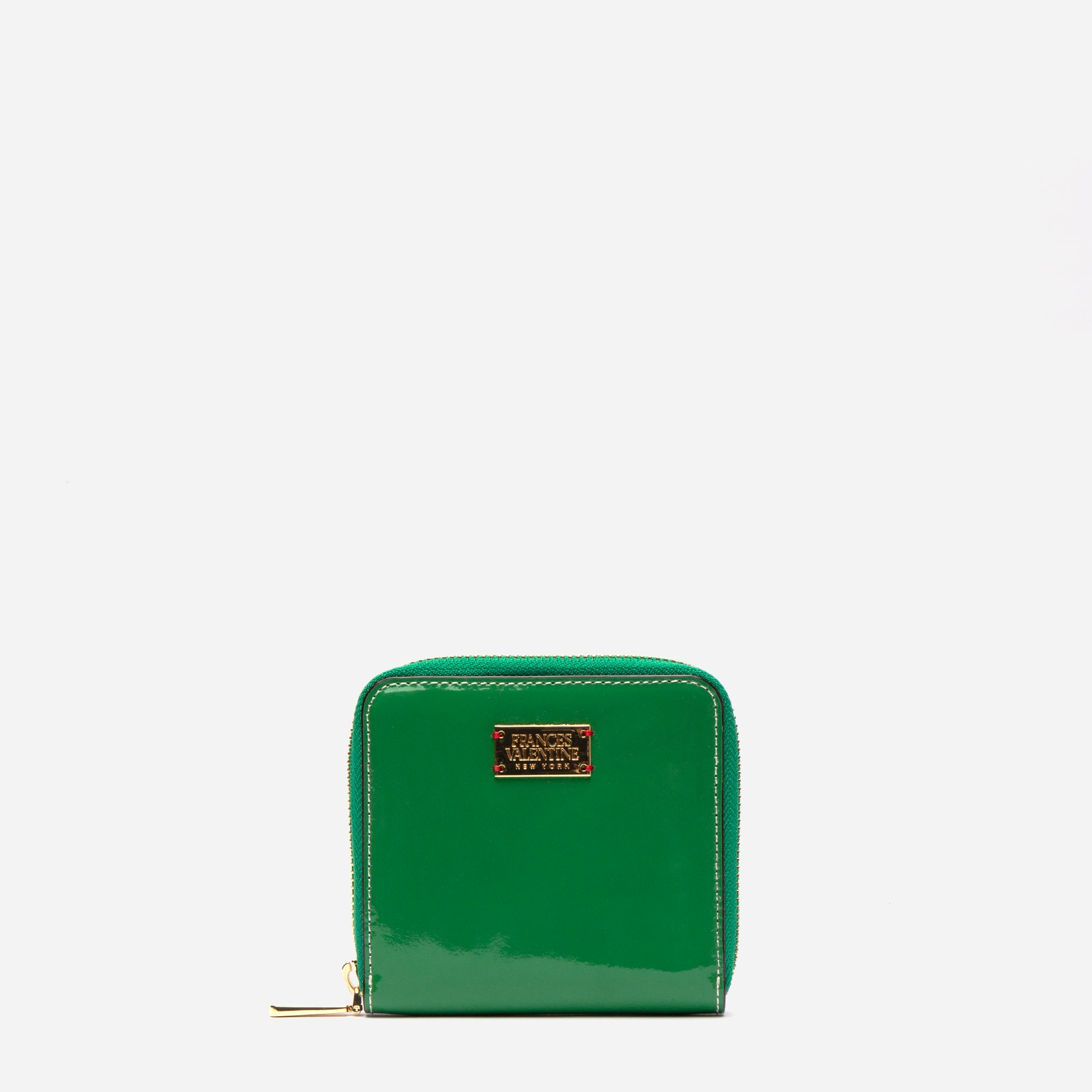 Roosevelt Small Zip Wallet Soft Patent Green Yellow