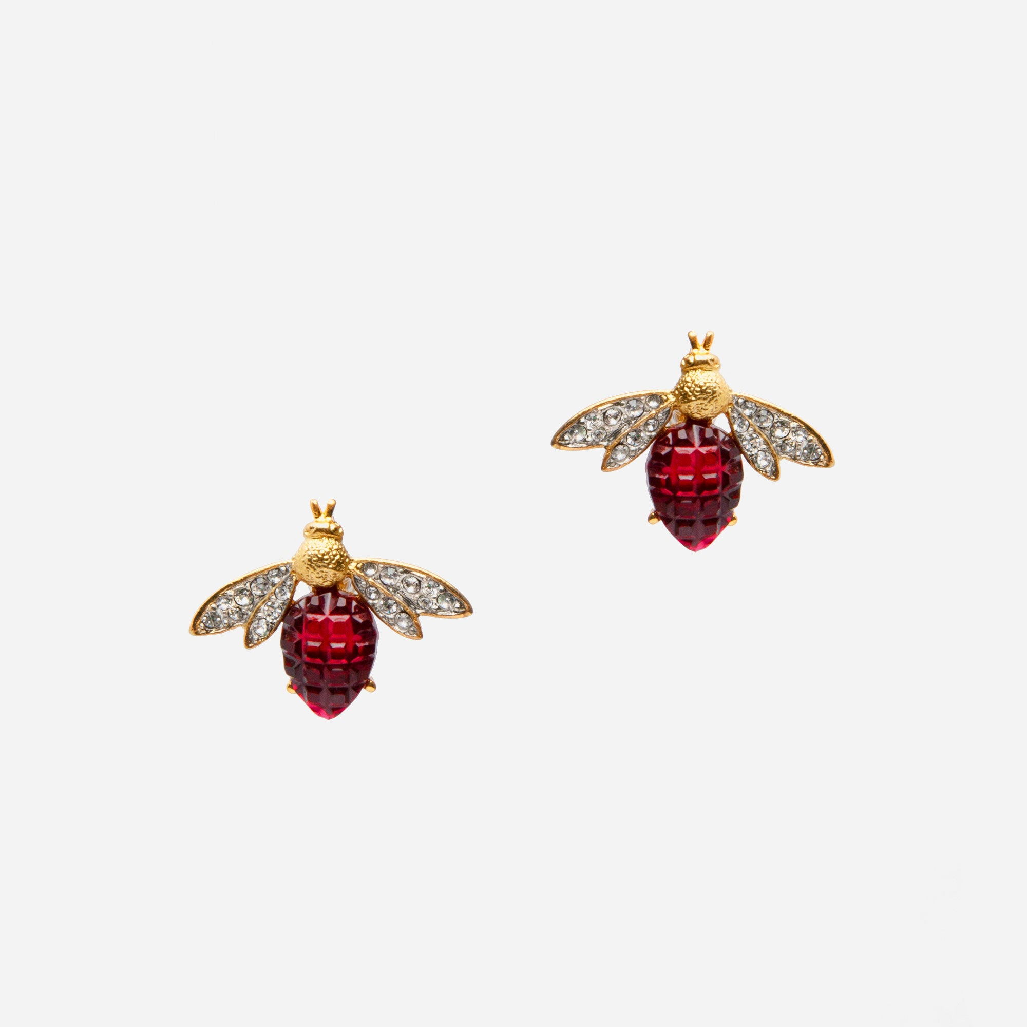 Ruby Bee Earrings