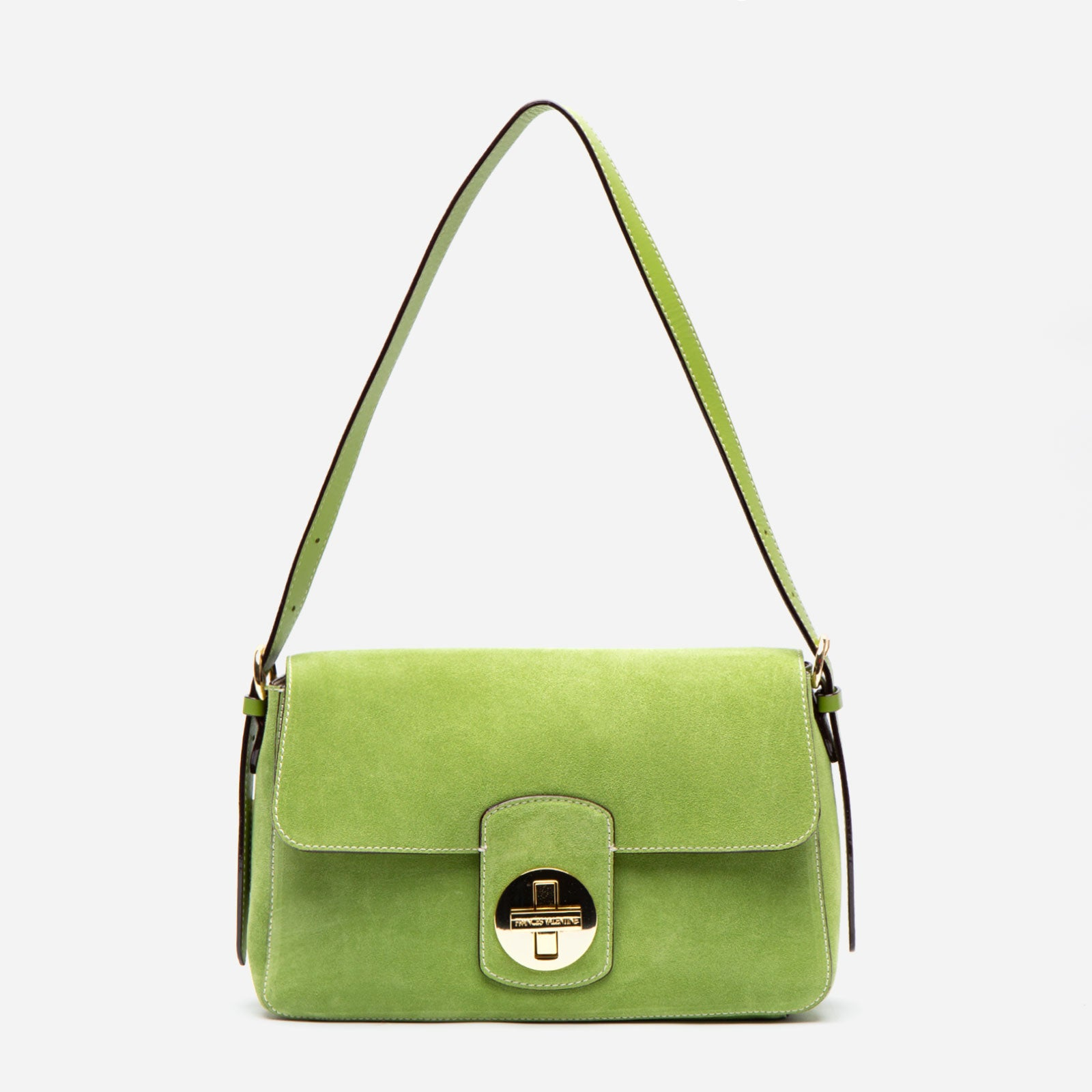 Ruby Shoulder Bag Suede Fern - Frances Valentine
