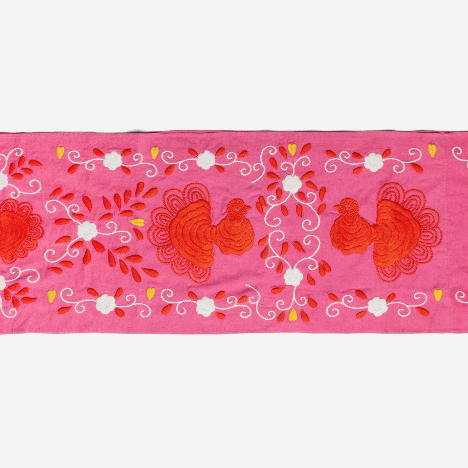 Peacock Table Runner Pink Multi