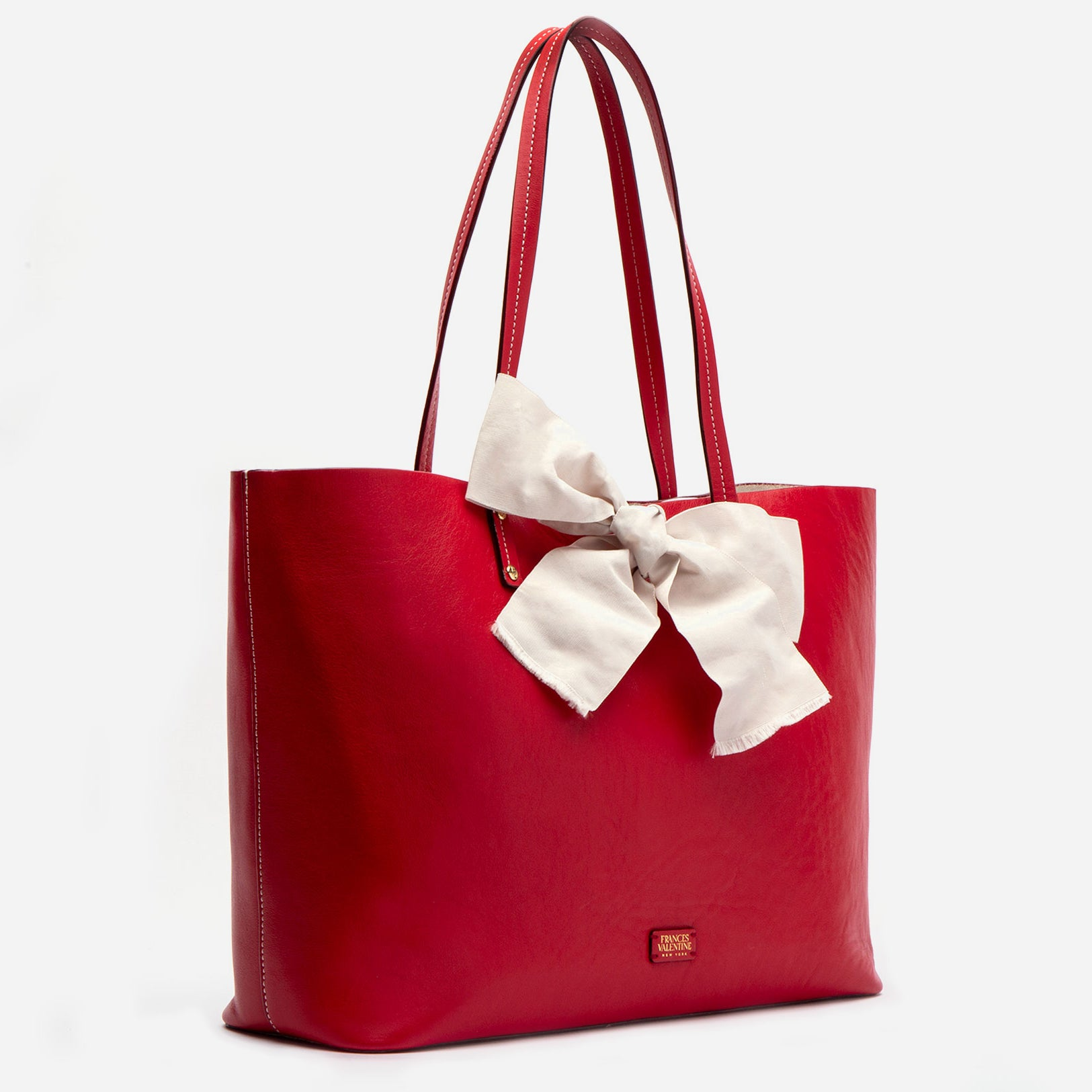 Trixie Bow Tote Red Oyster