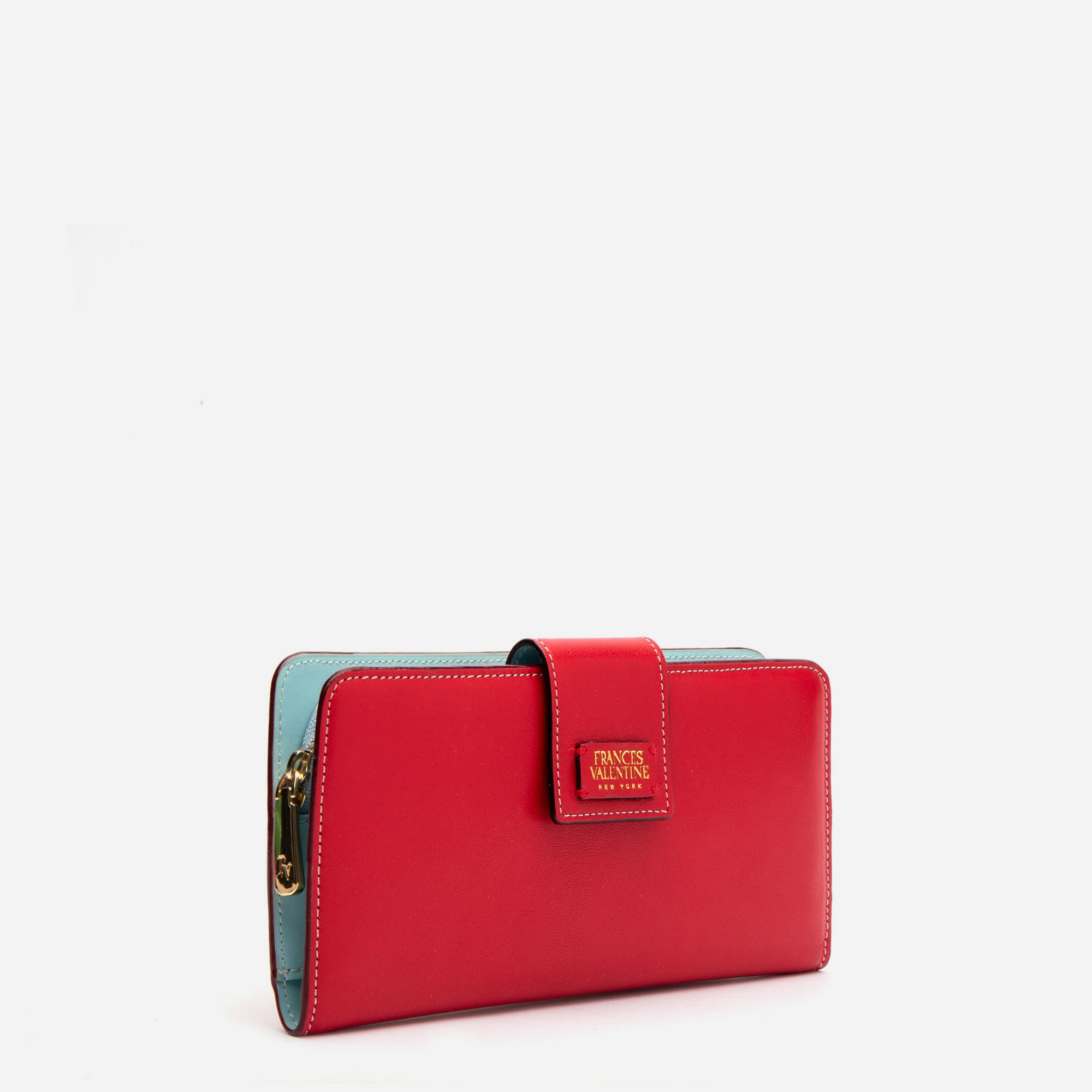 Jefferson Slim Wallet Red Light Blue