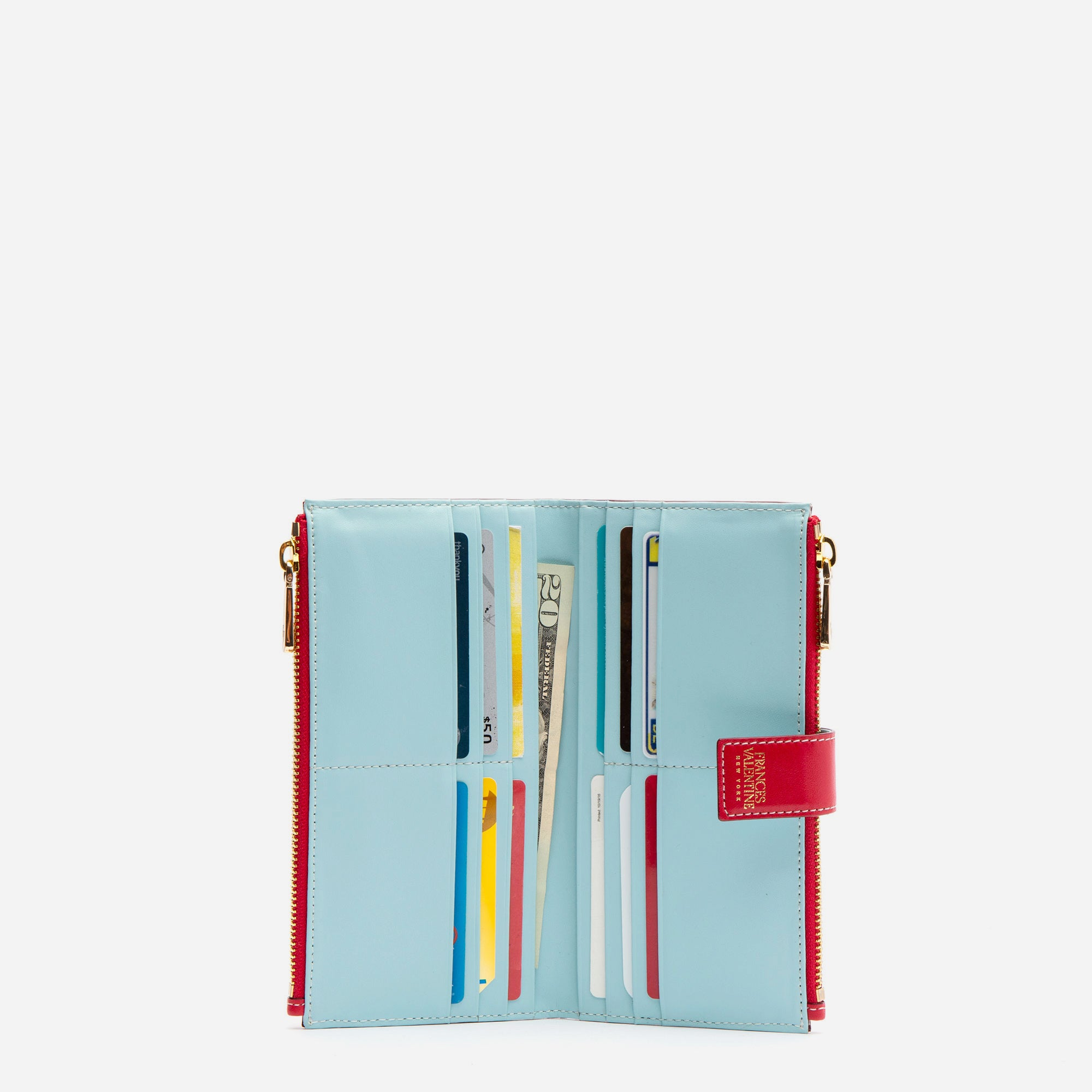 Sacagawea Snap Wallet Red Light Blue