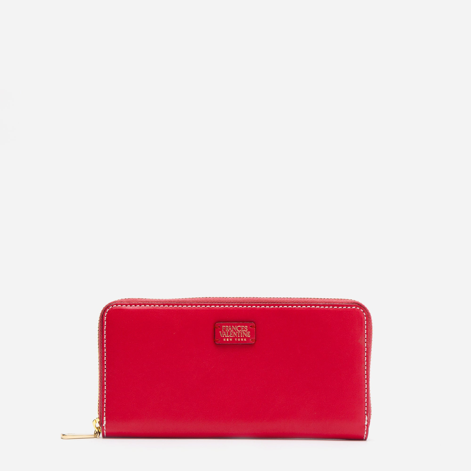 Washington Zip Wallet Red Light Blue - Frances Valentine