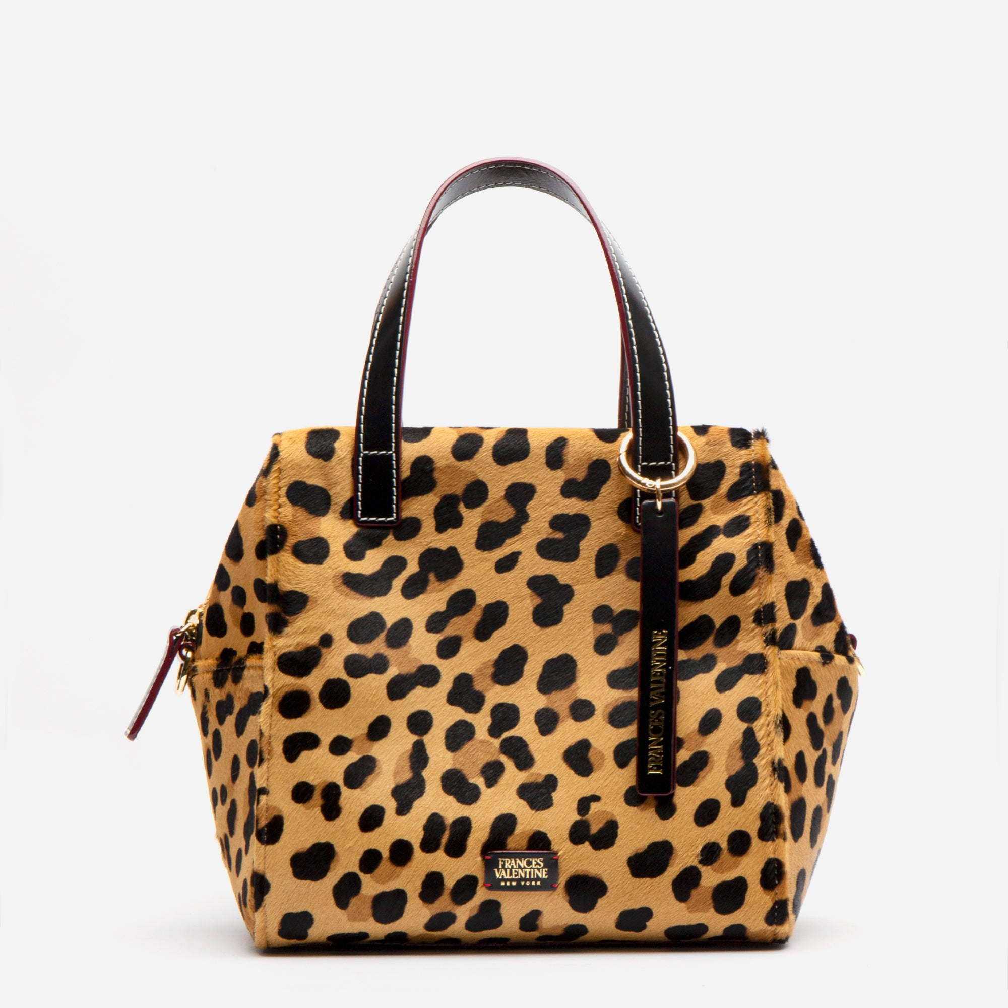 Sabrina Satchel Leopard Printed Haircalf - Frances Valentine