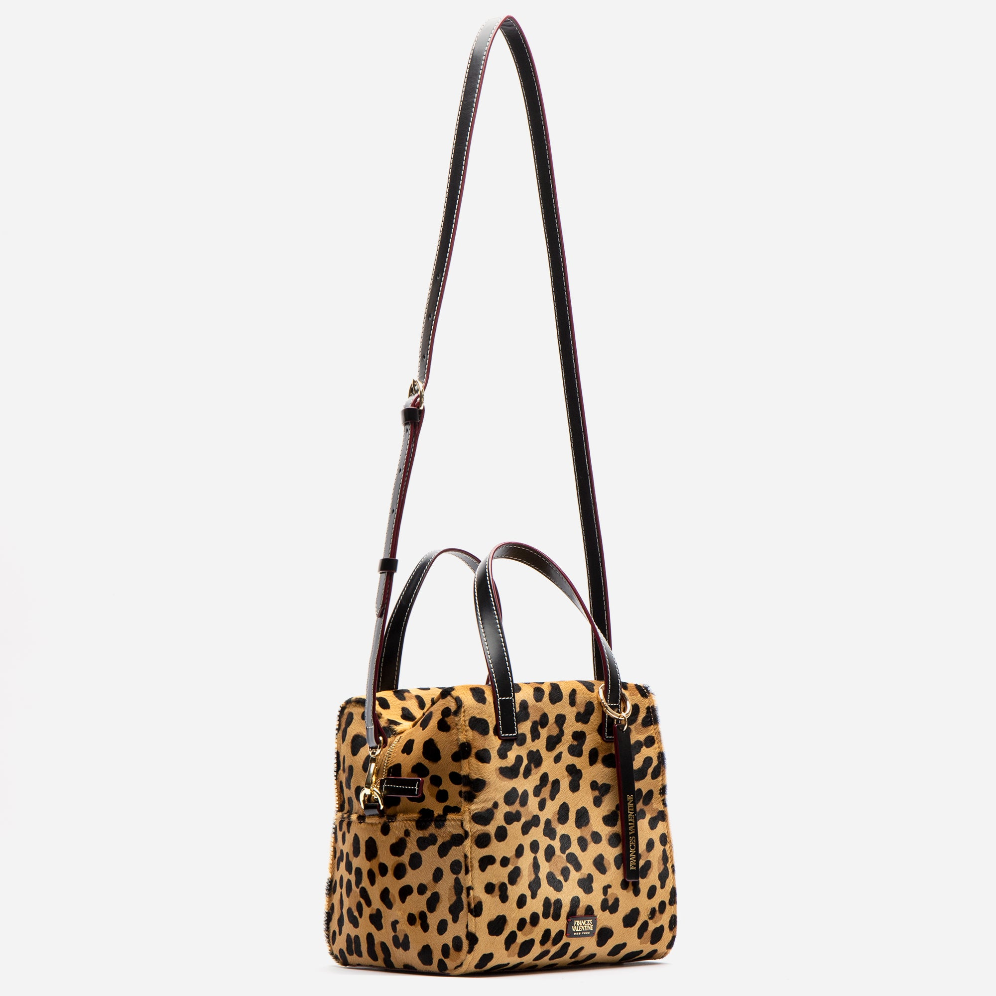 Sabrina Satchel Leopard Printed Haircalf