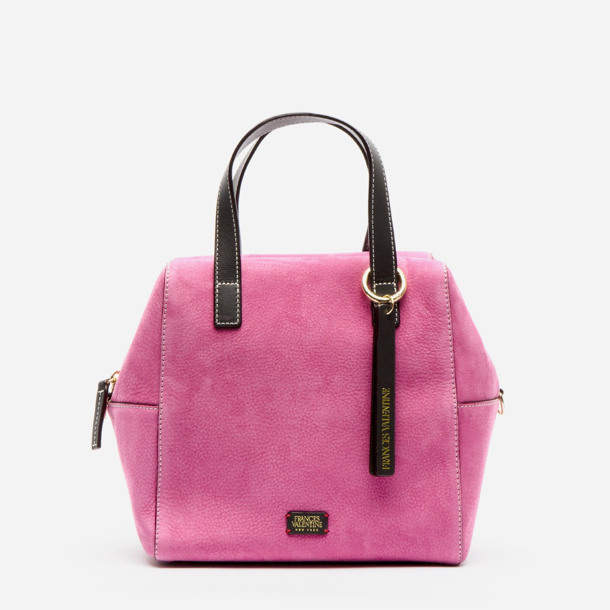 Sabrina Satchel Tumbled Nubuck Pink Chocolate