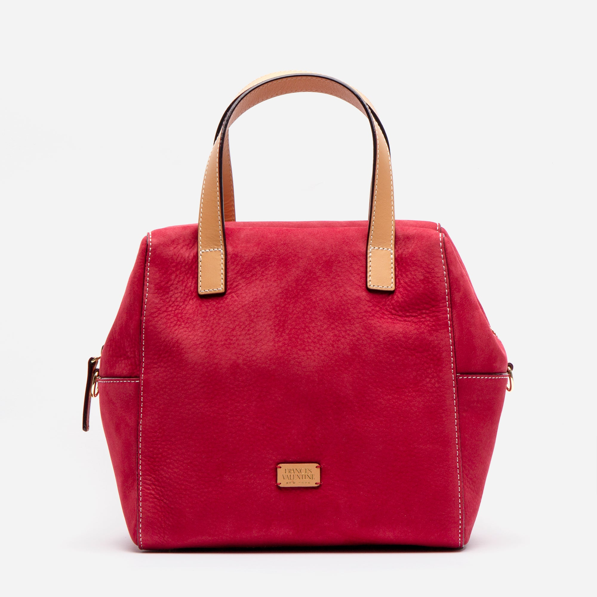 Sabrina Satchel Tumbled Nubuck Red