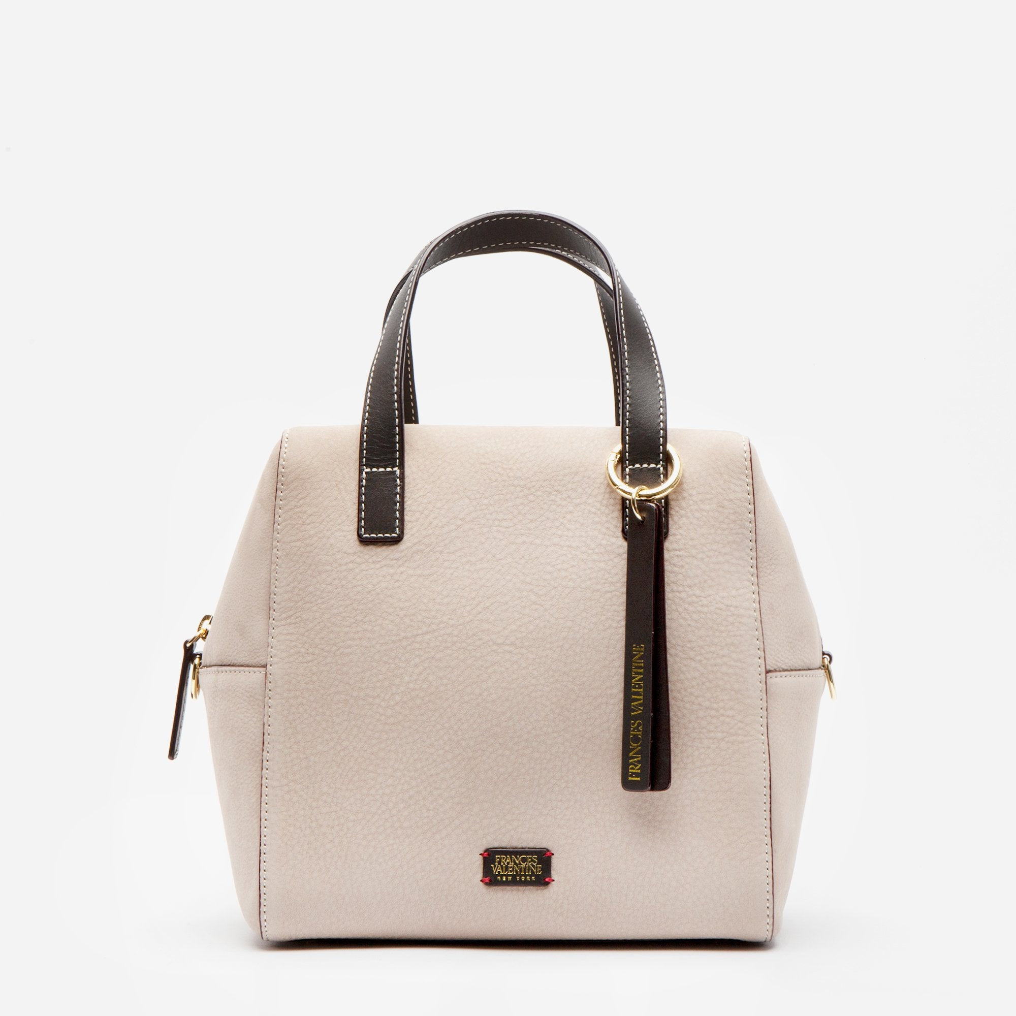 Sabrina Satchel Tumbled Nubuck Sand Chocolate