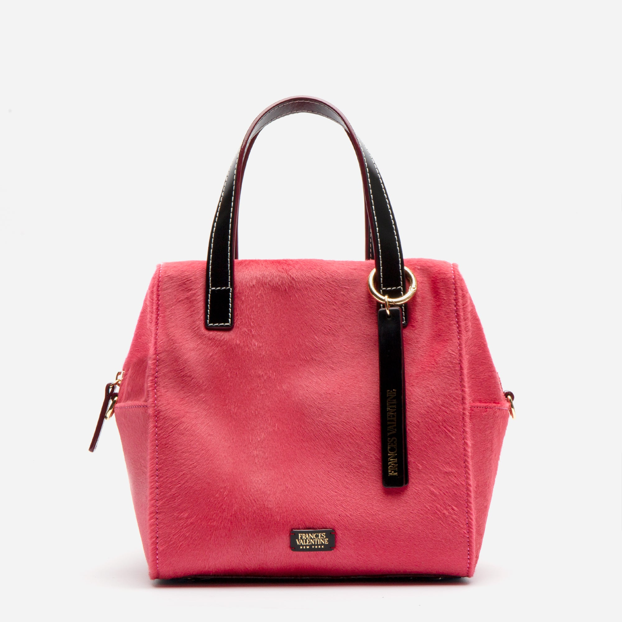 Sabrina Satchel Pink Haircalf - Frances Valentine