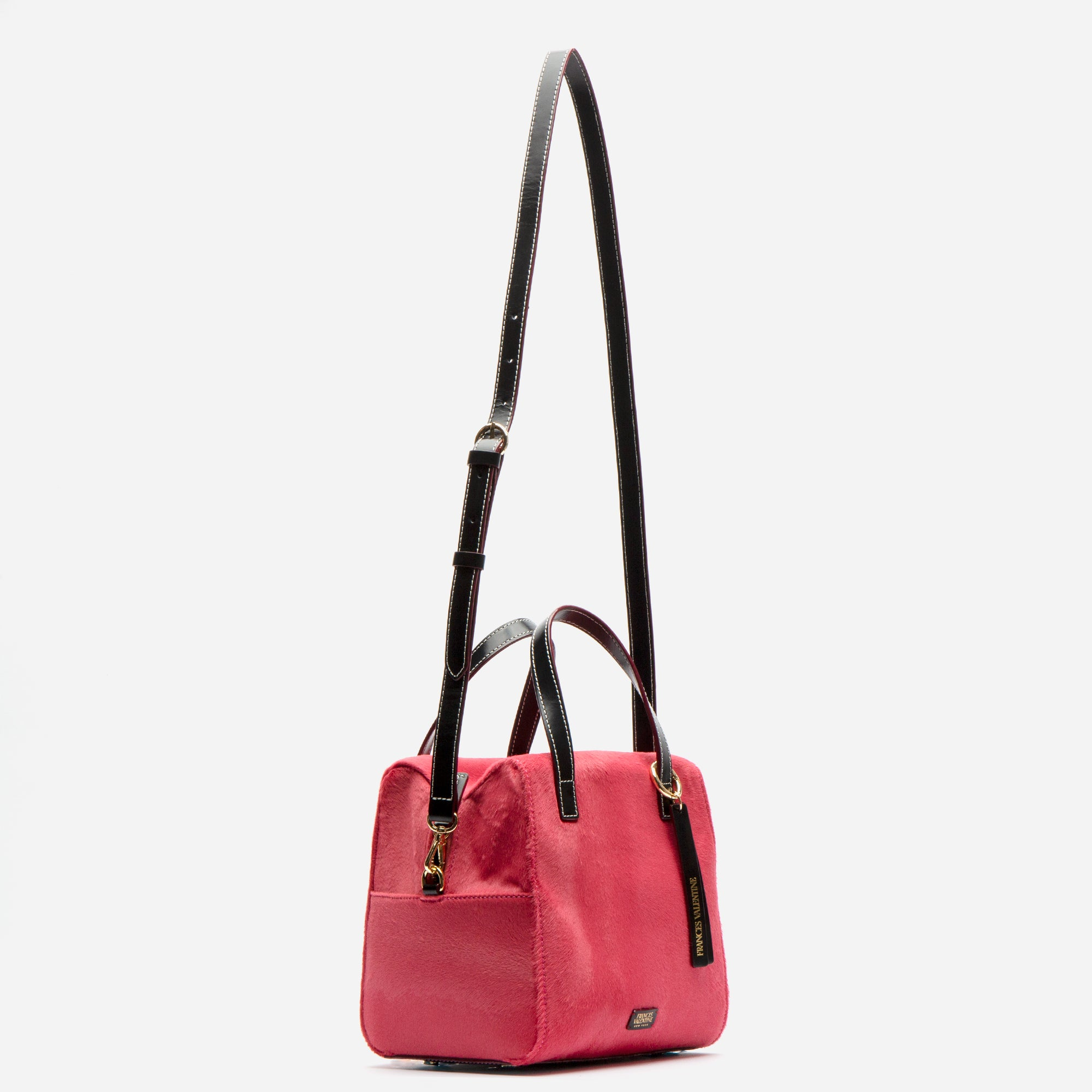 Sabrina Satchel Pink Haircalf