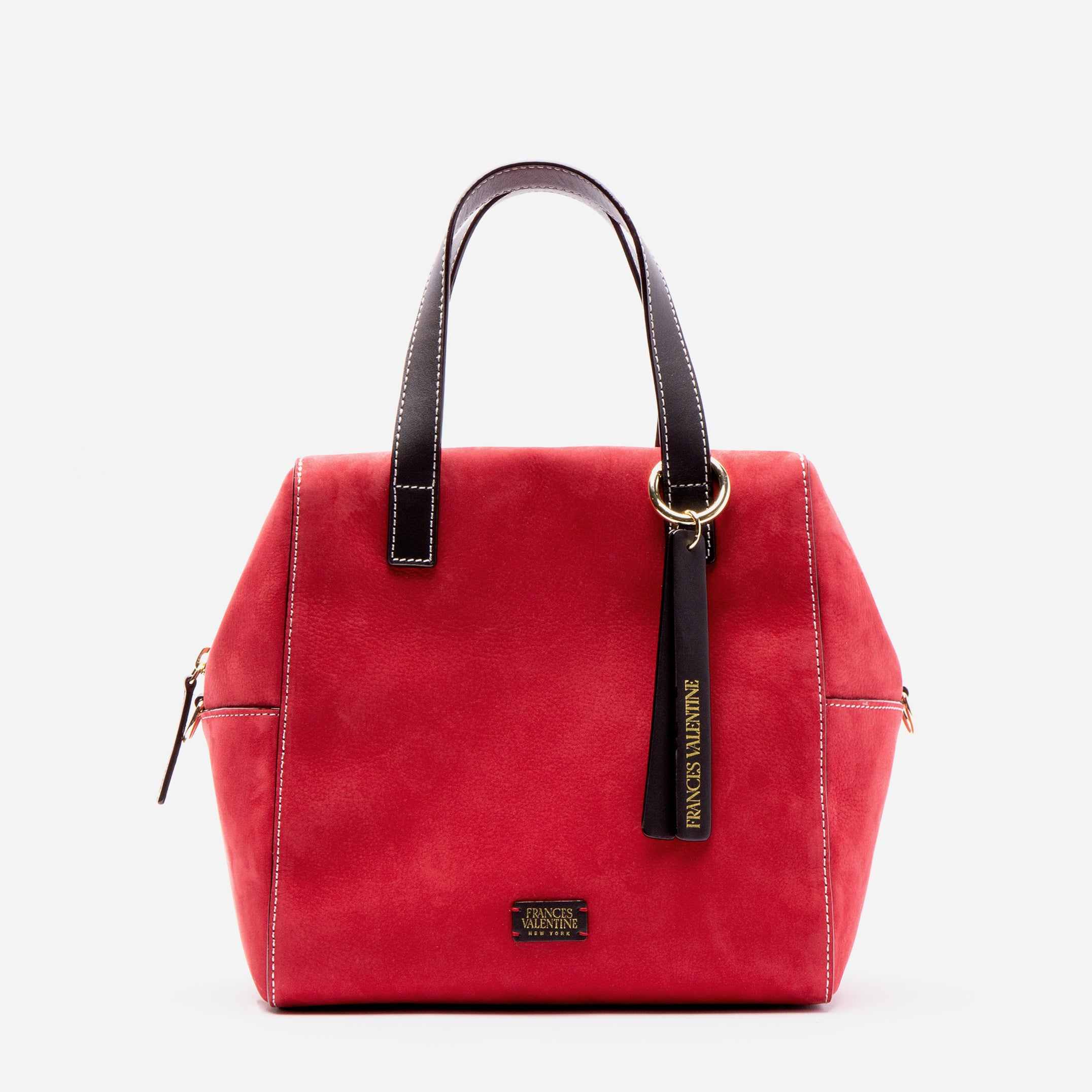 Sabrina Satchel Tumbled Nubuck Red Chocolate