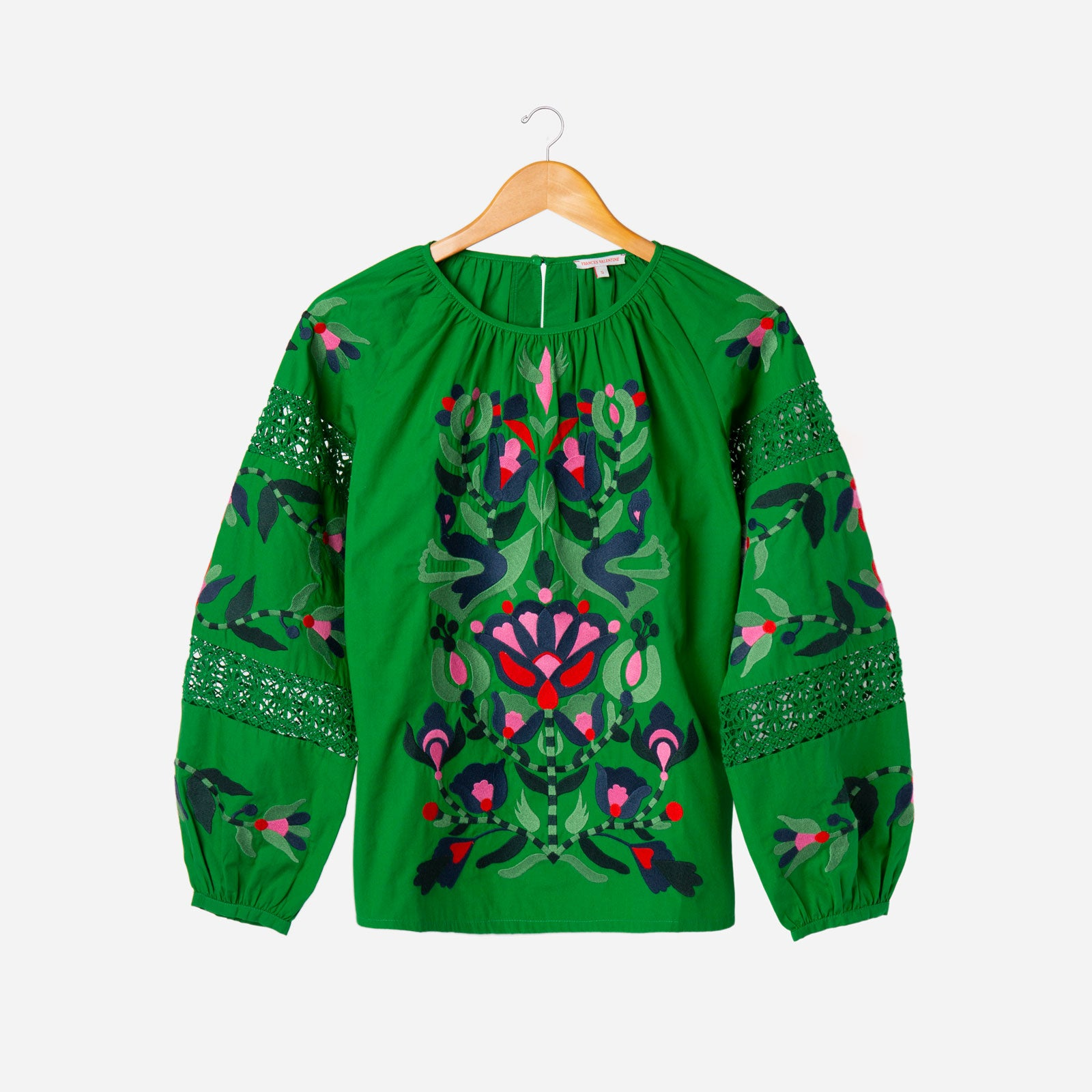 Saskia Embroidered Blouse Green