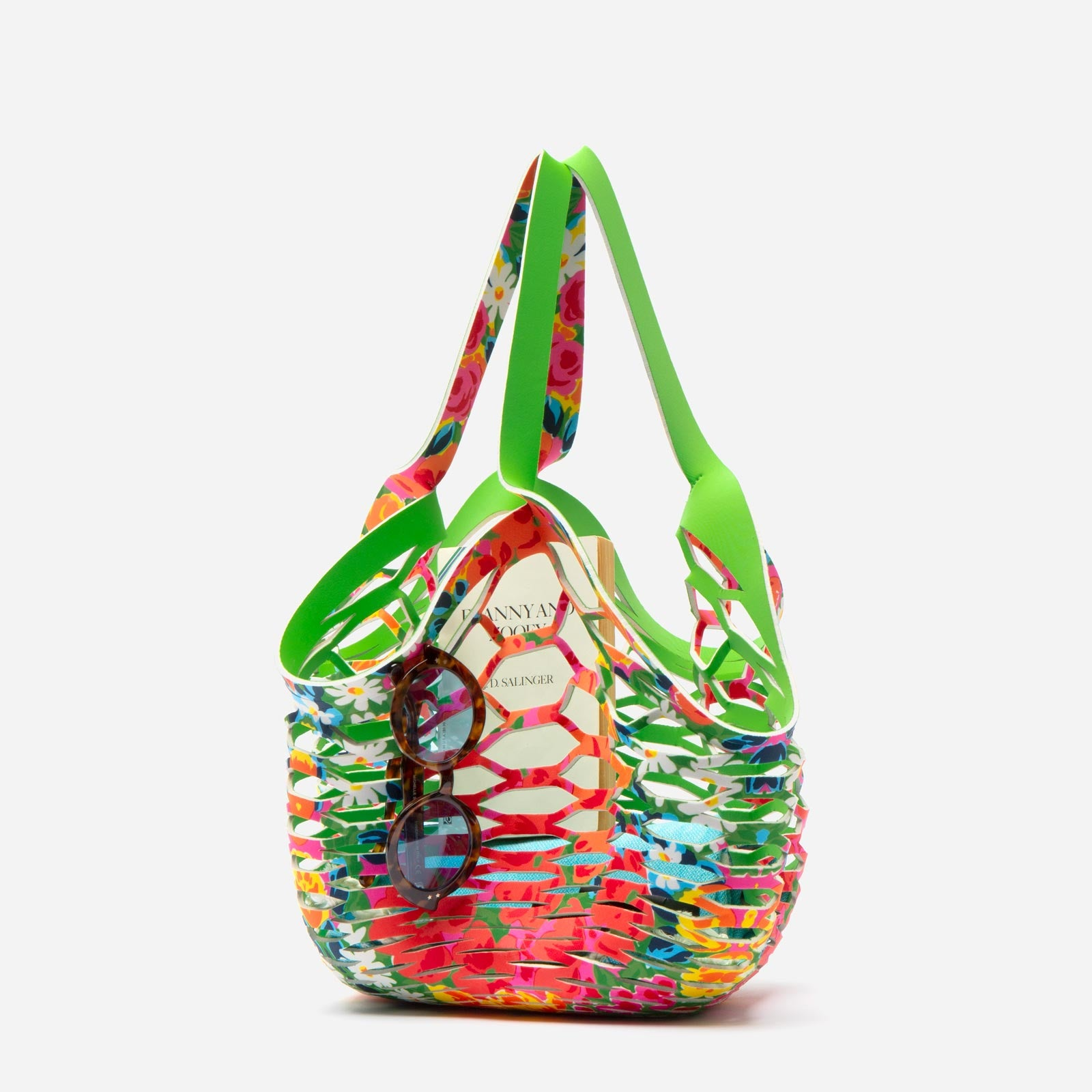 Sea Star Beachwear Fisherman Tote Bright Floral
